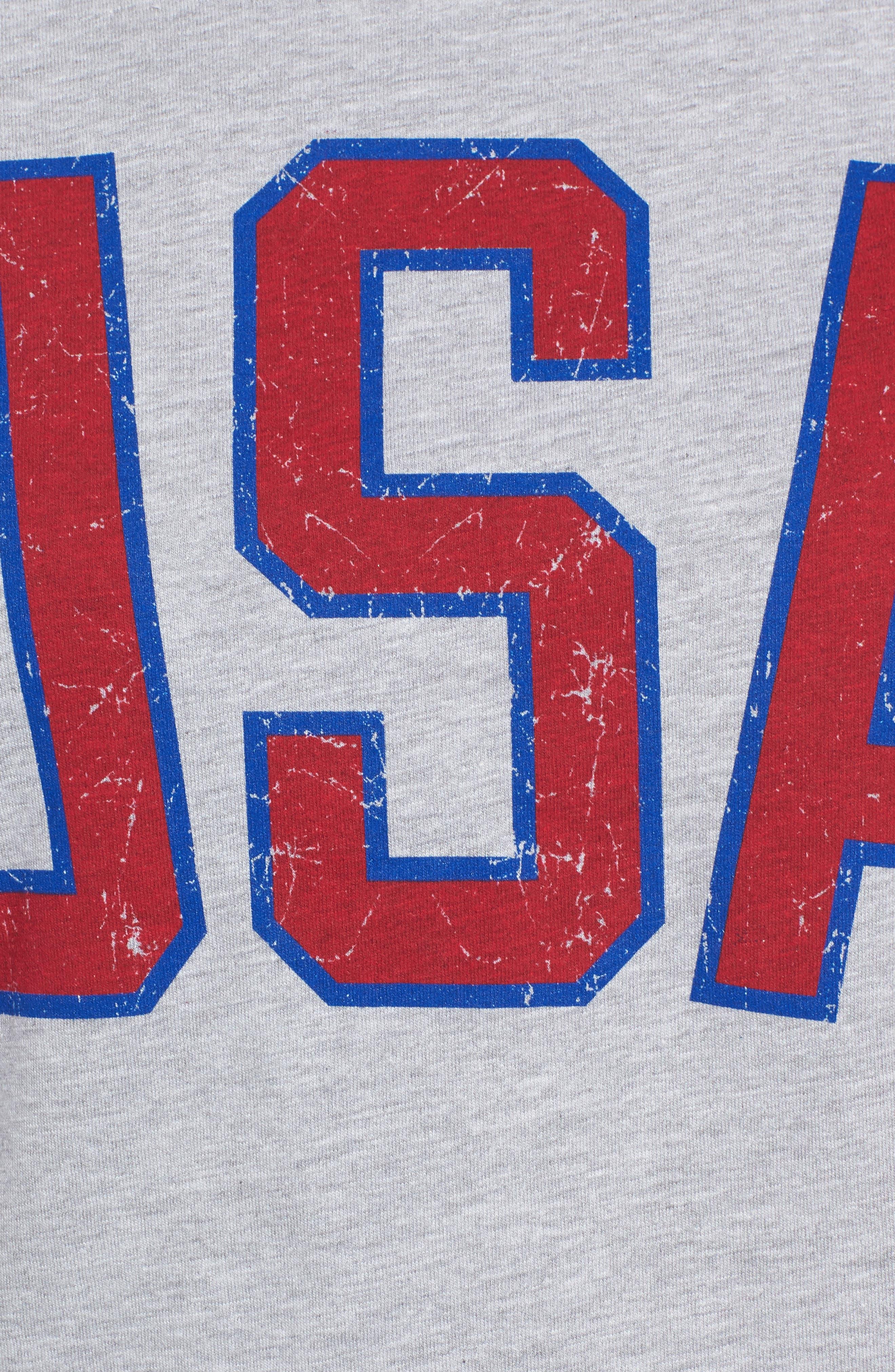 USA Tee,                             Alternate thumbnail 4, color,                             Heather Grey