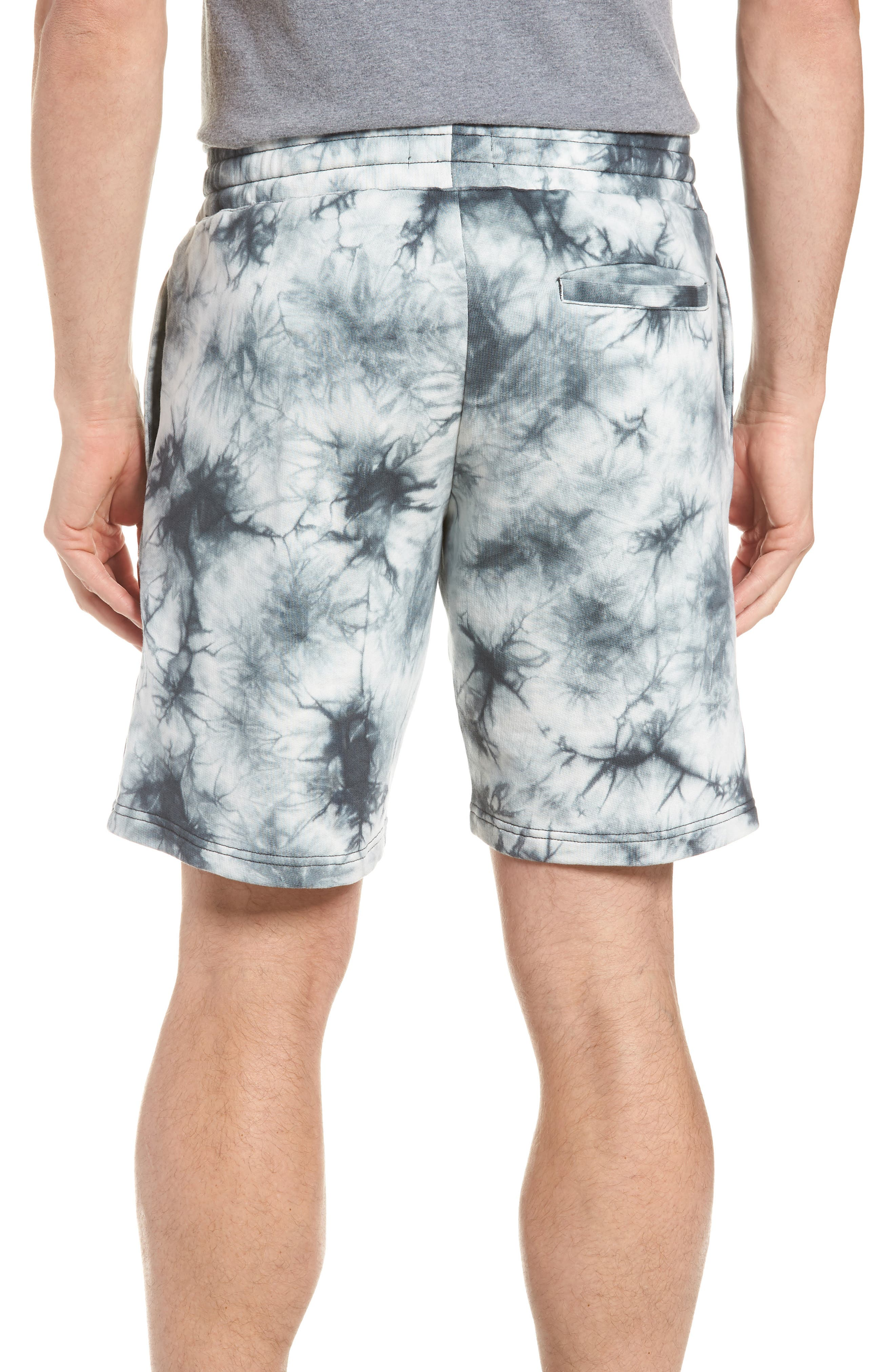 Twisted 9-Inch Cotton Shorts,                             Alternate thumbnail 2, color,                             Blue Tie Dye