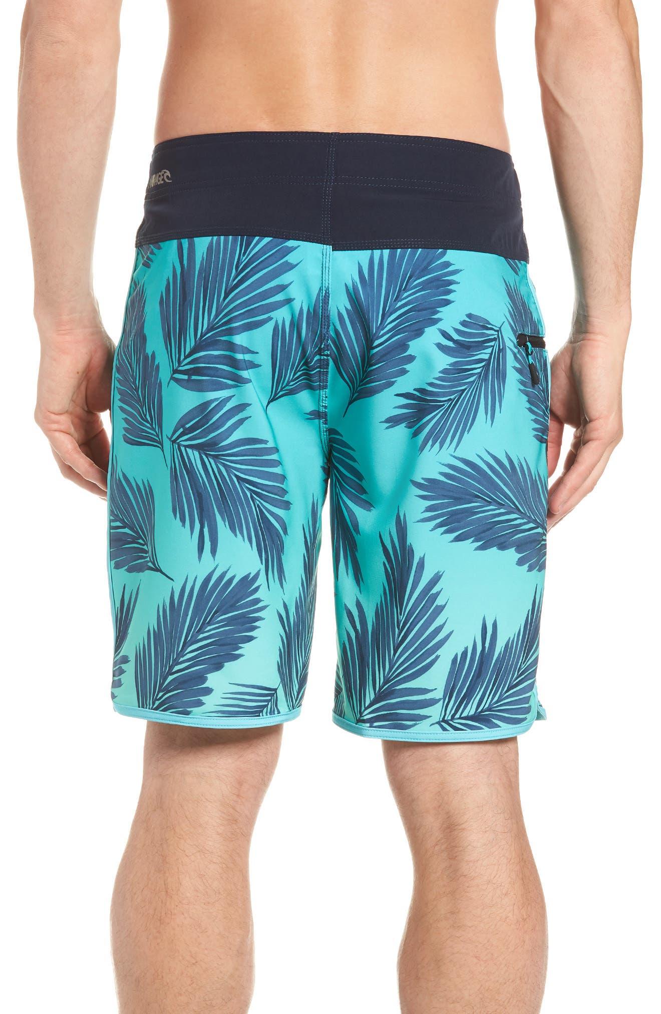 Mirage Mason Rockies Board Shorts,                             Alternate thumbnail 2, color,                             Teal