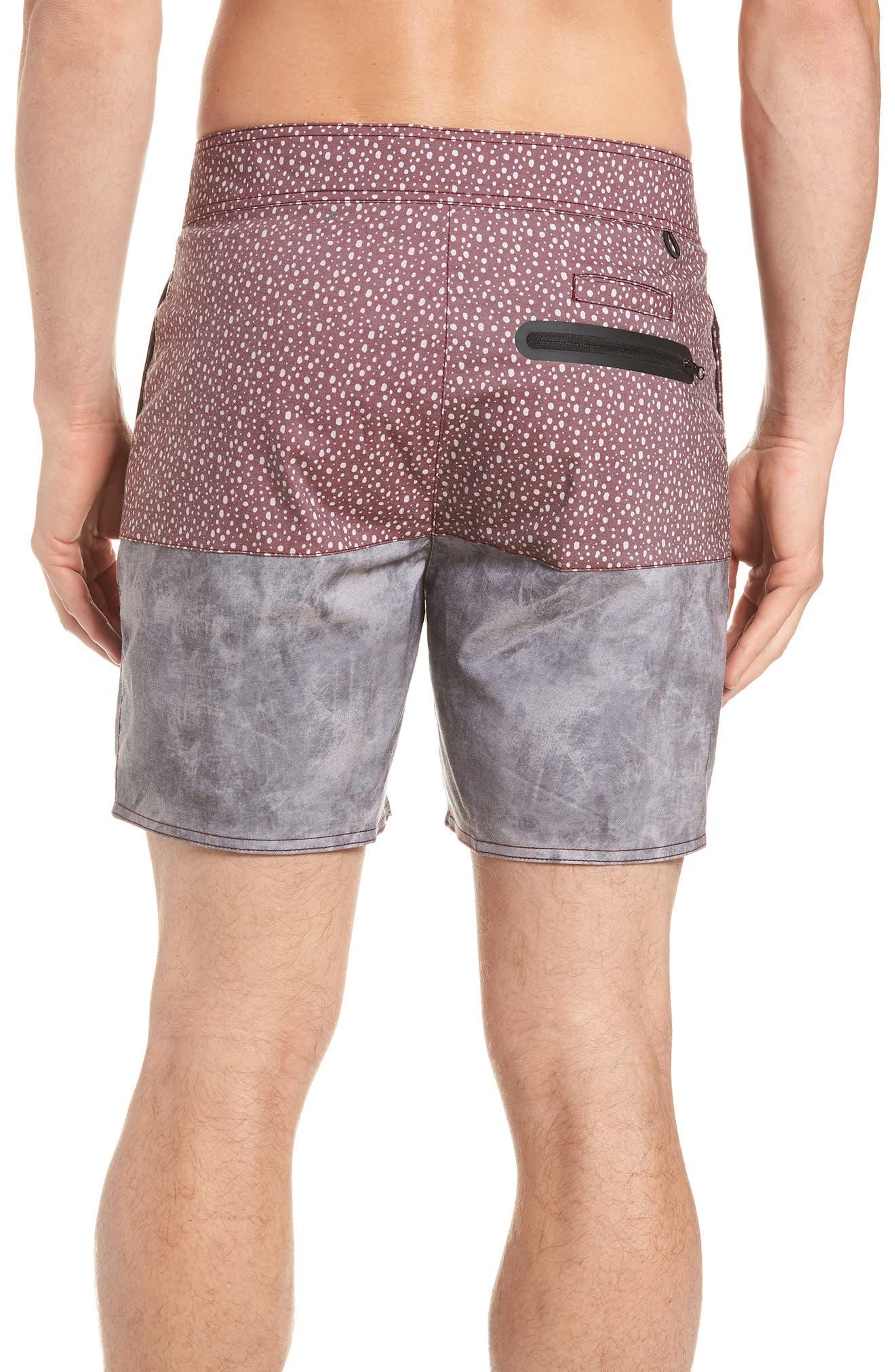 Dotted Swim Shorts,                             Alternate thumbnail 2, color,                             Rust