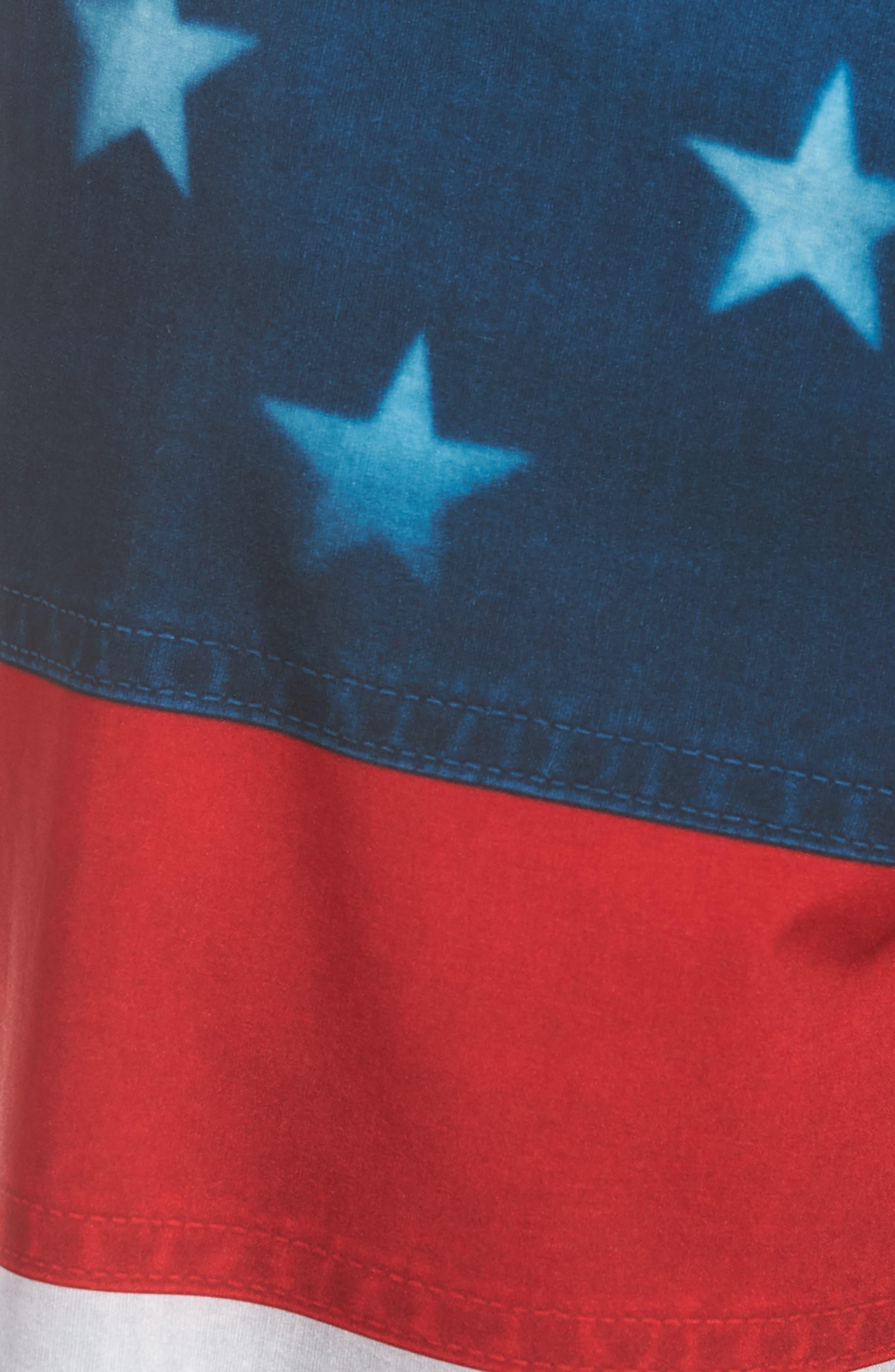 Era Board Shorts,                             Alternate thumbnail 4, color,                             American Flag