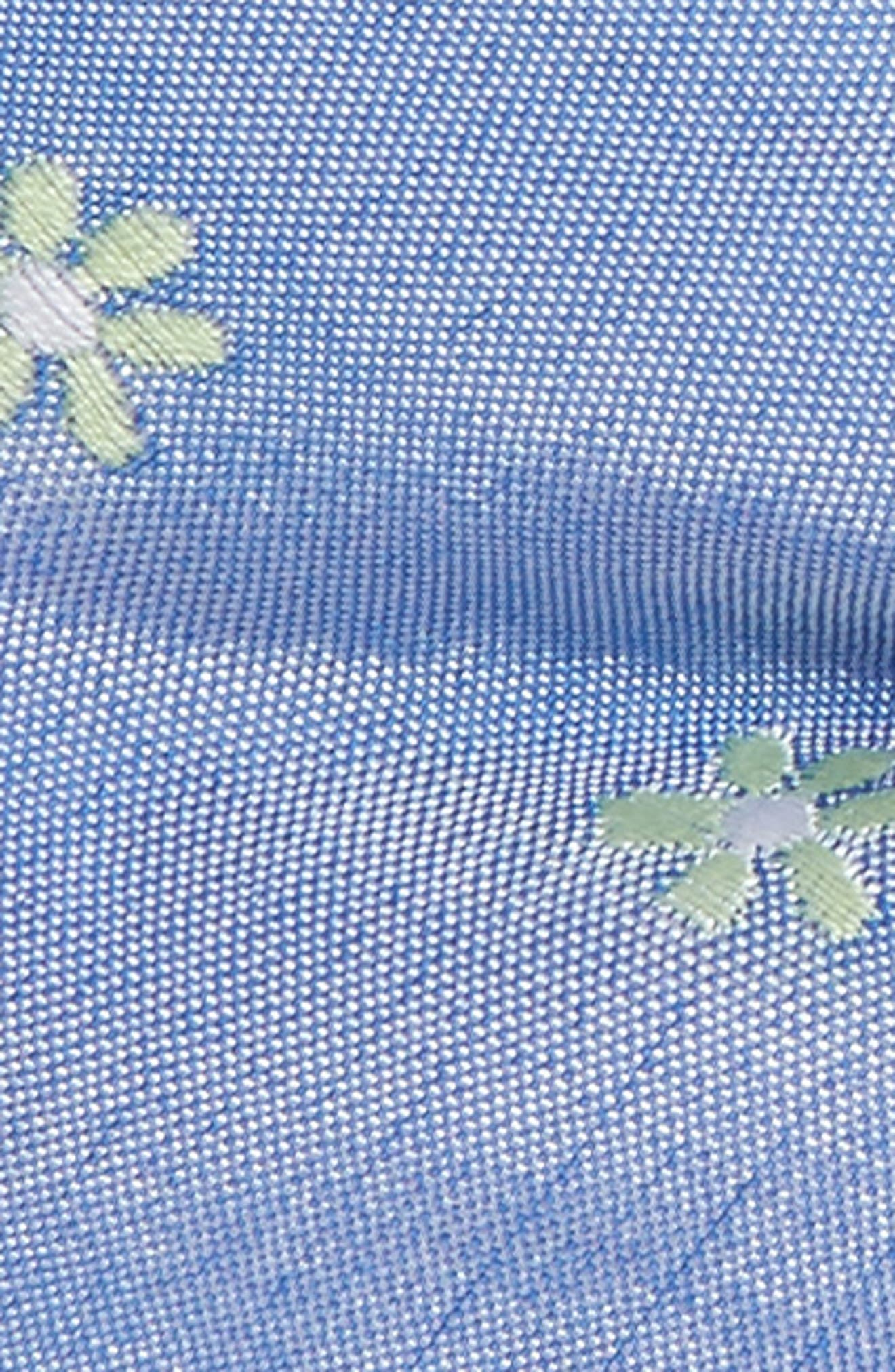 Cumberland Floral Cotton & Silk Bow Tie,                             Alternate thumbnail 2, color,                             Green/ Blue