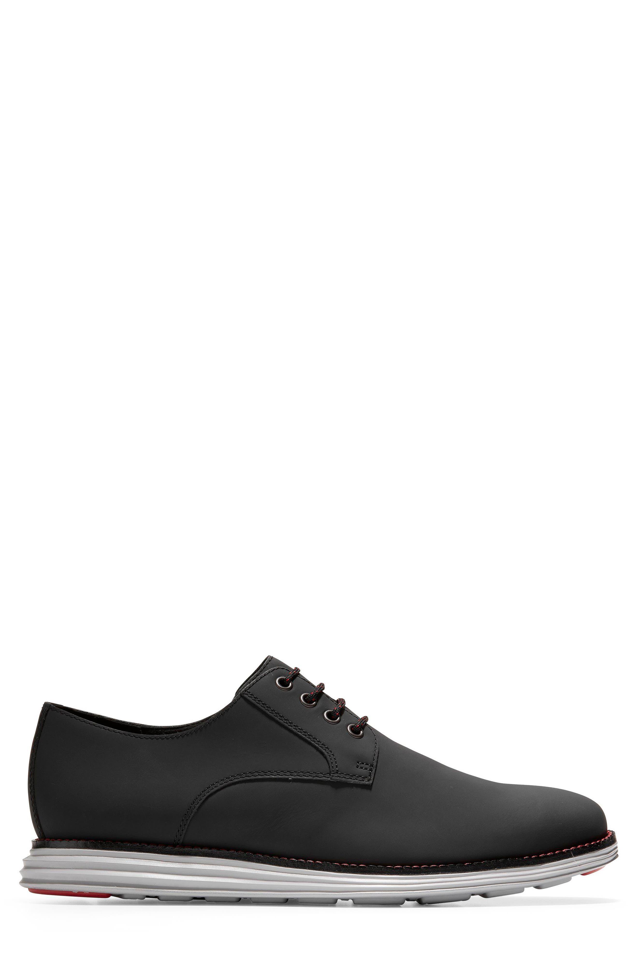 Original Grand Plain Toe Derby,                             Alternate thumbnail 4, color,                             Black Matte Leather