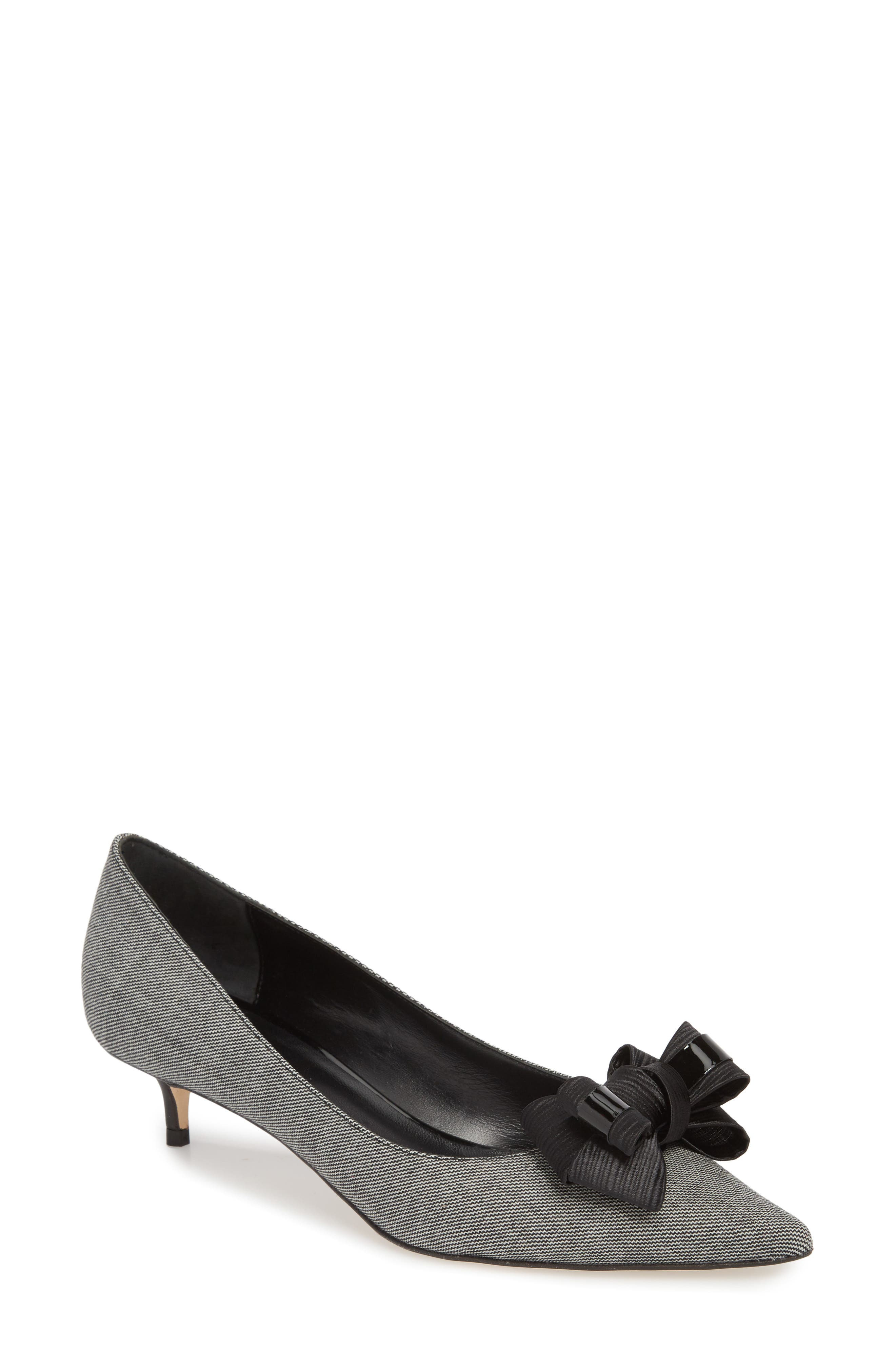 Butter Bentley Bow Pointy Toe Pump,                         Main,                         color, Chatter Print