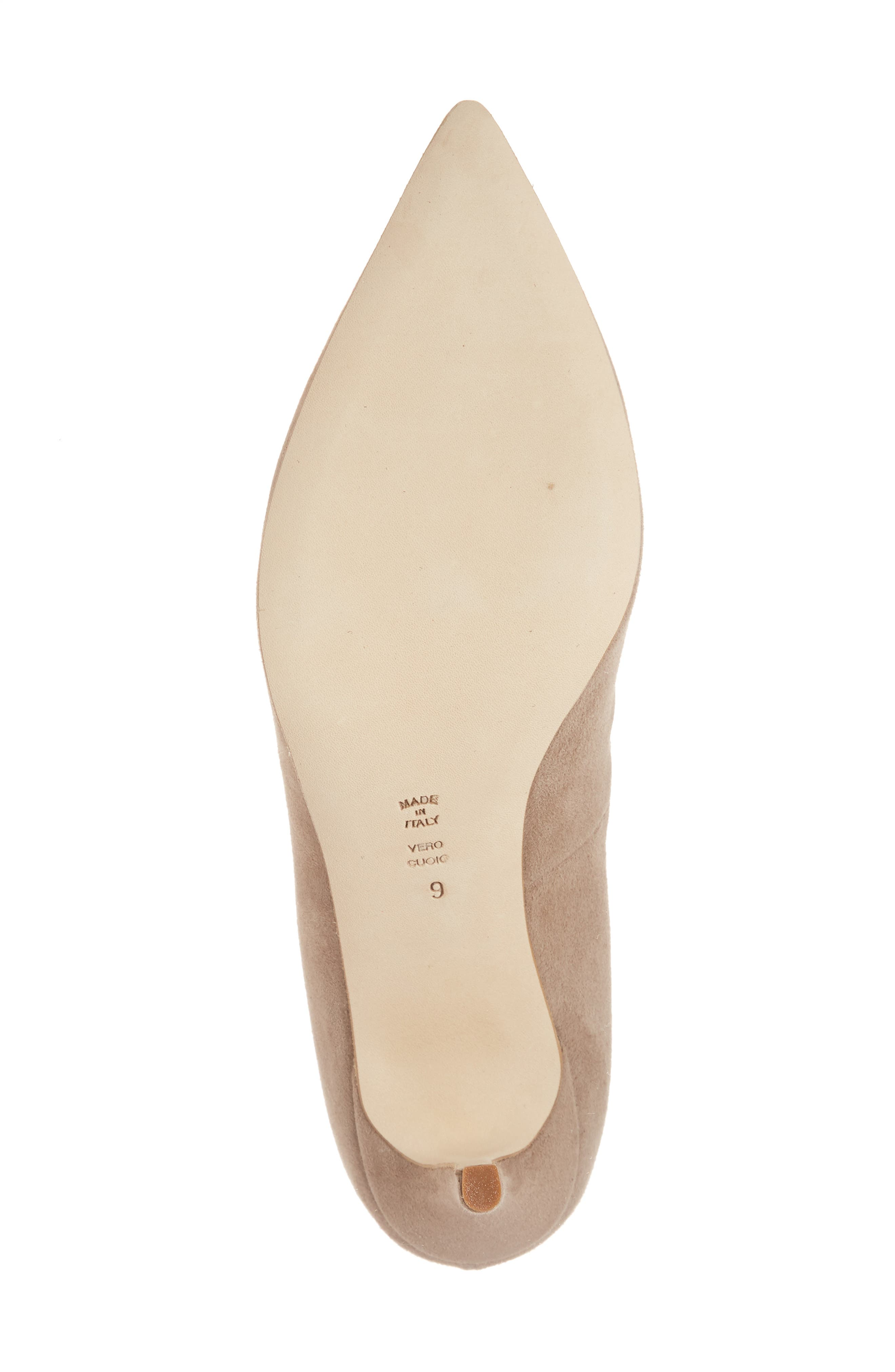 Butter Eris Pointy Toe Pump,                             Alternate thumbnail 4, color,                             Taupe Suede