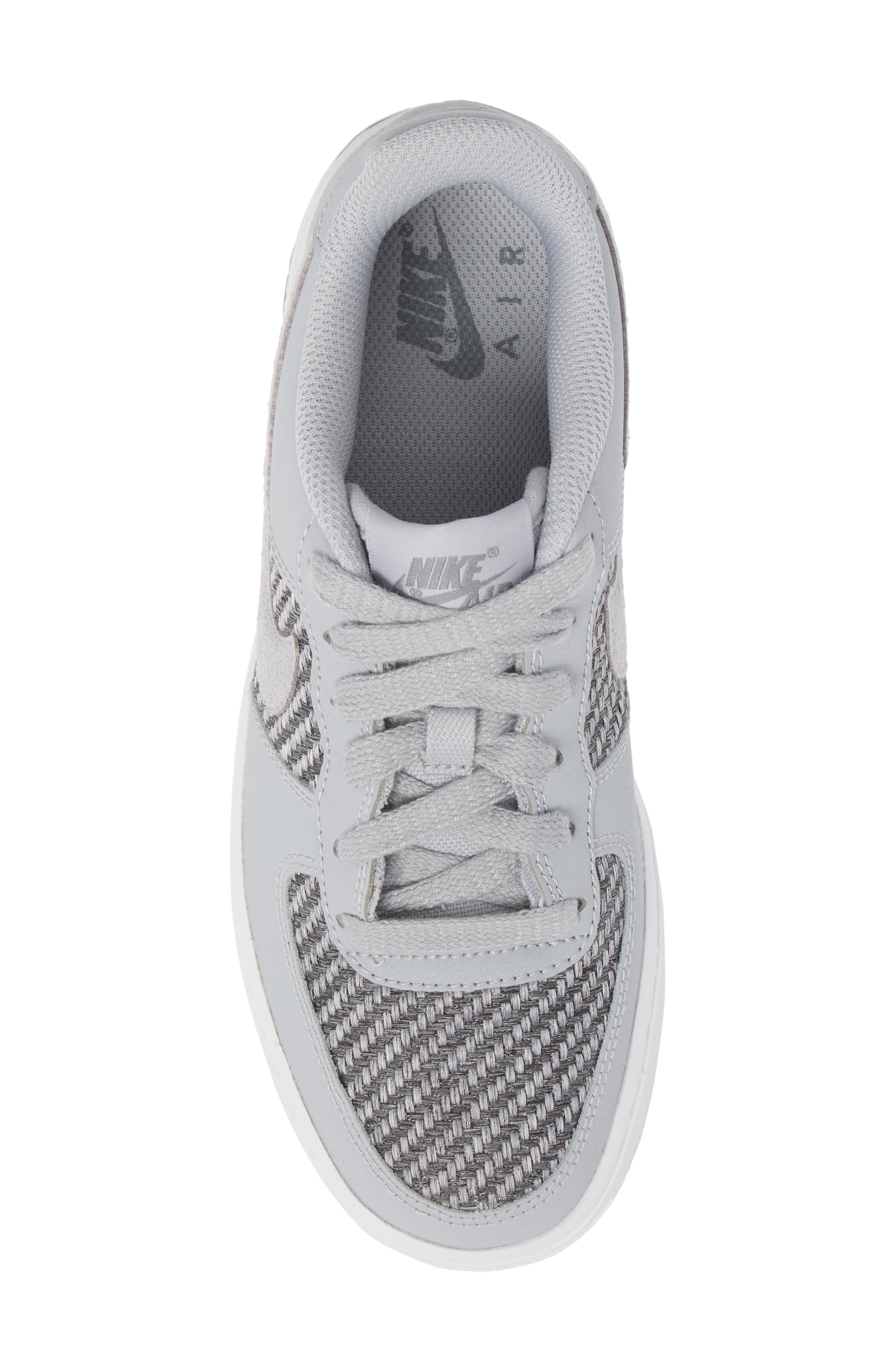 Air Force 1 LV8 Sneaker,                             Alternate thumbnail 5, color,                             Cool Grey/ White