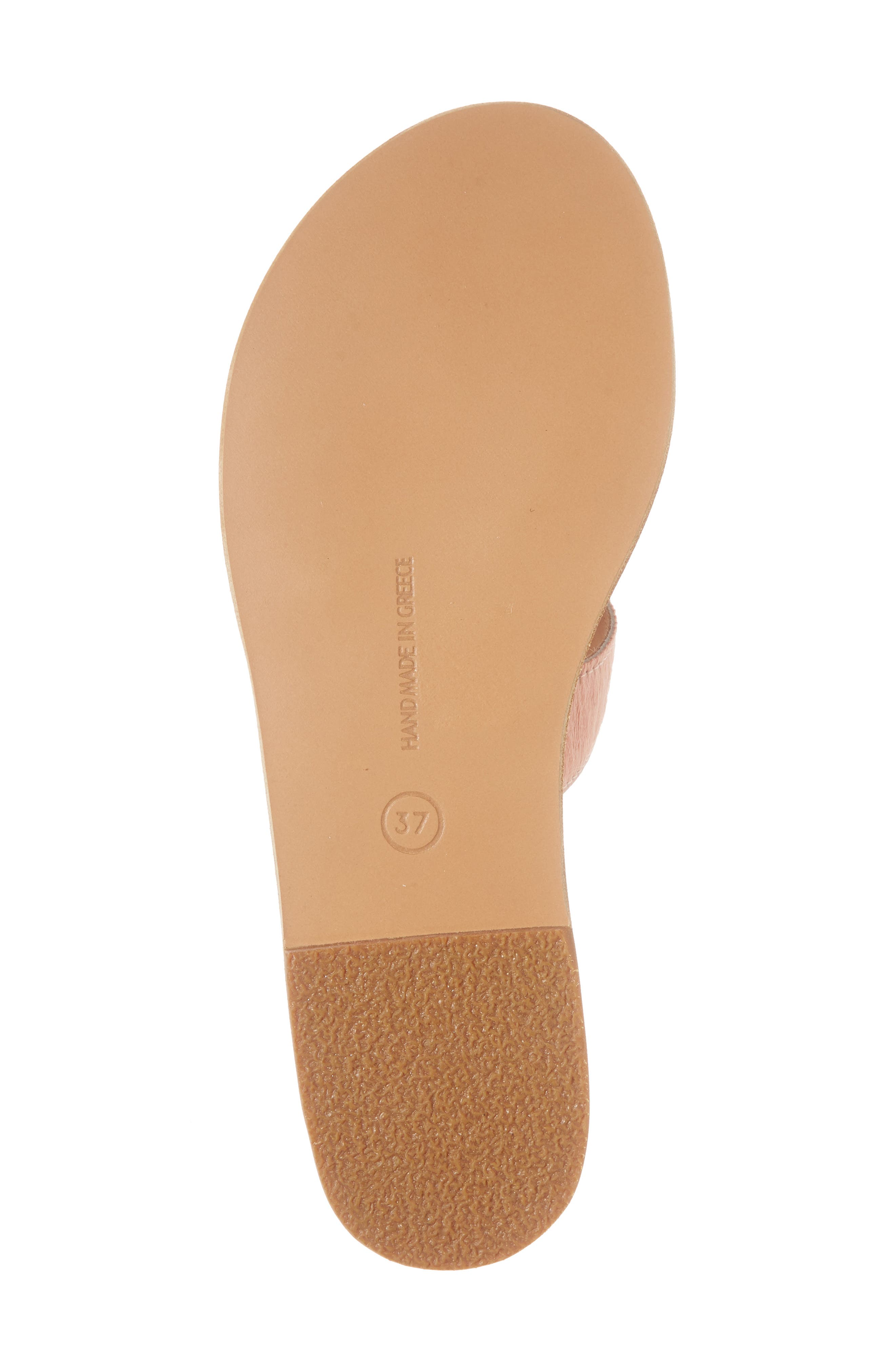 Apteros Genuine Calf Hair Slide Sandal,                             Alternate thumbnail 6, color,                             Pink Pony