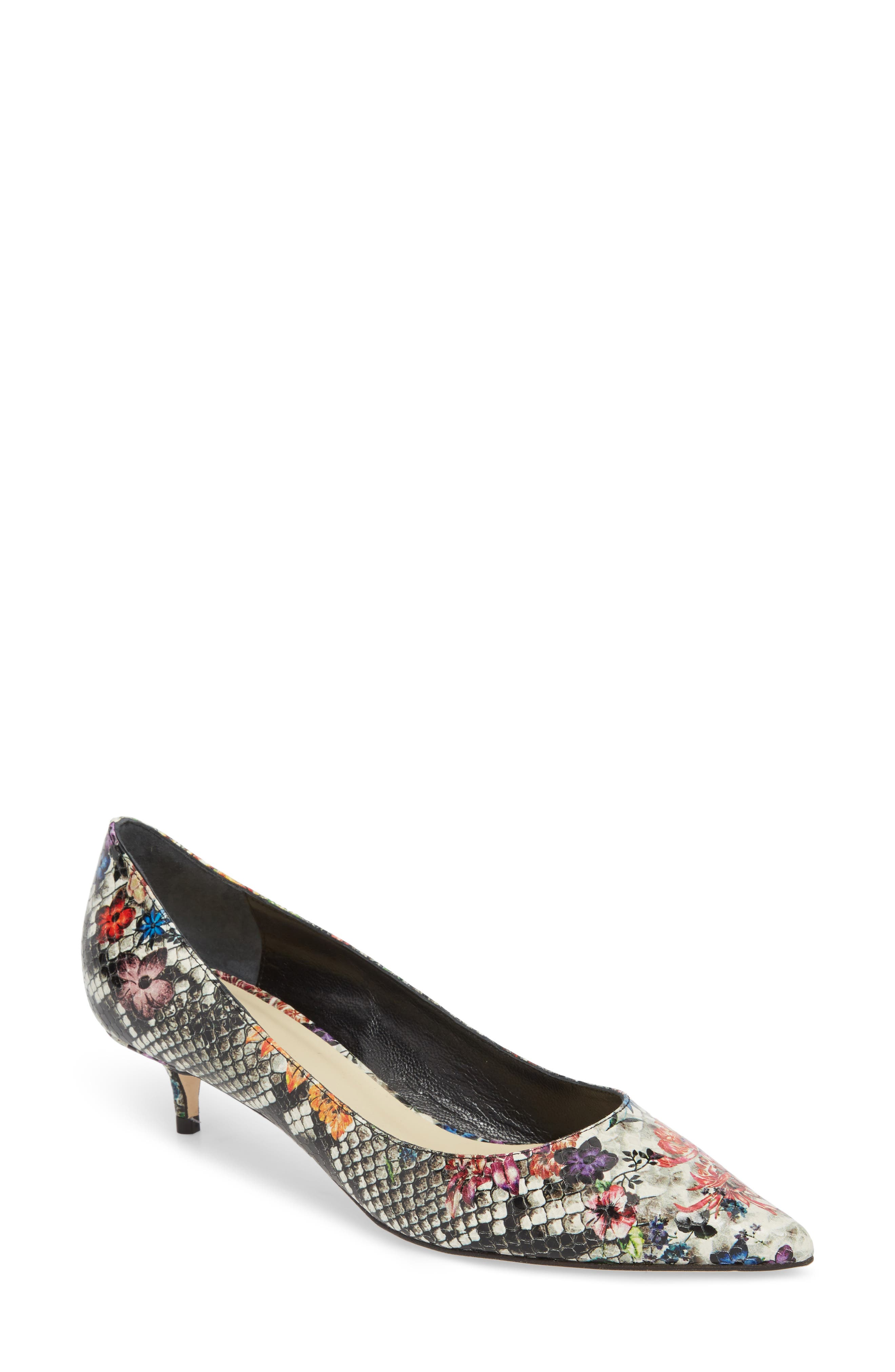 Butter Born Pointy Toe Pump,                         Main,                         color, Flower Stamp Snake