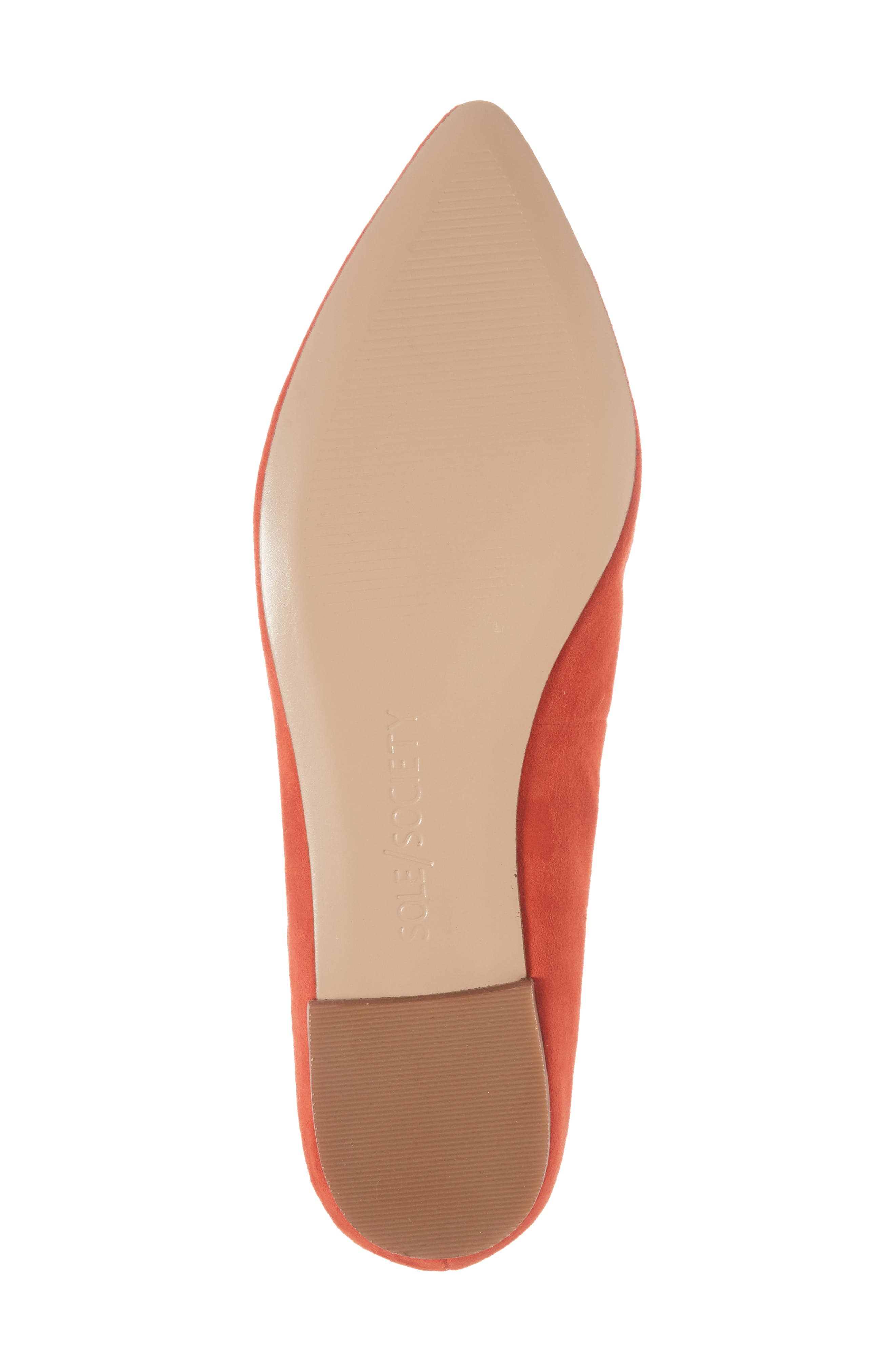 'Cammila' Pointy Toe Loafer,                             Alternate thumbnail 6, color,                             Deep Coral