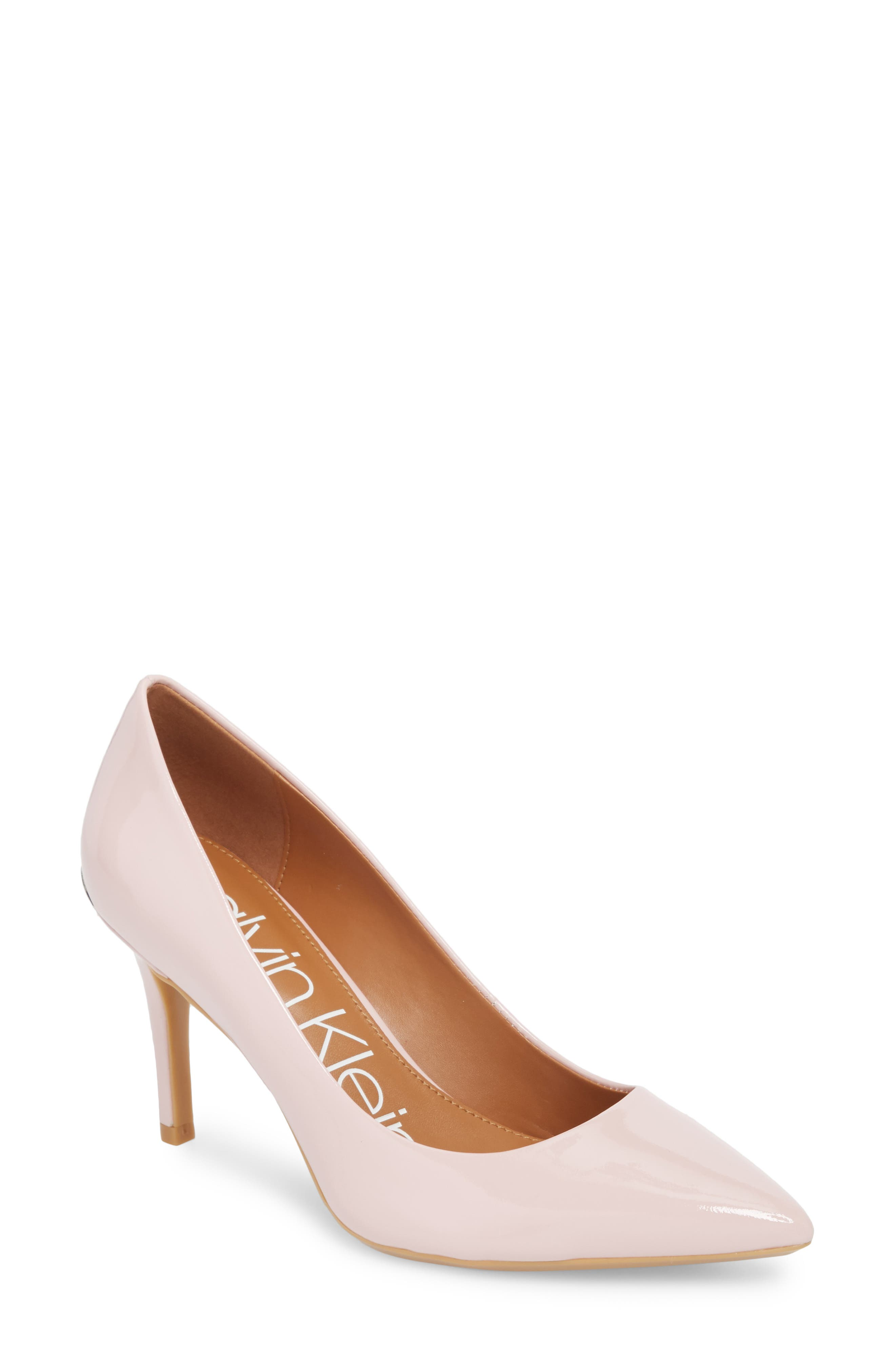 'Gayle' Pointy Toe Pump,                         Main,                         color, Petal Pink Leather