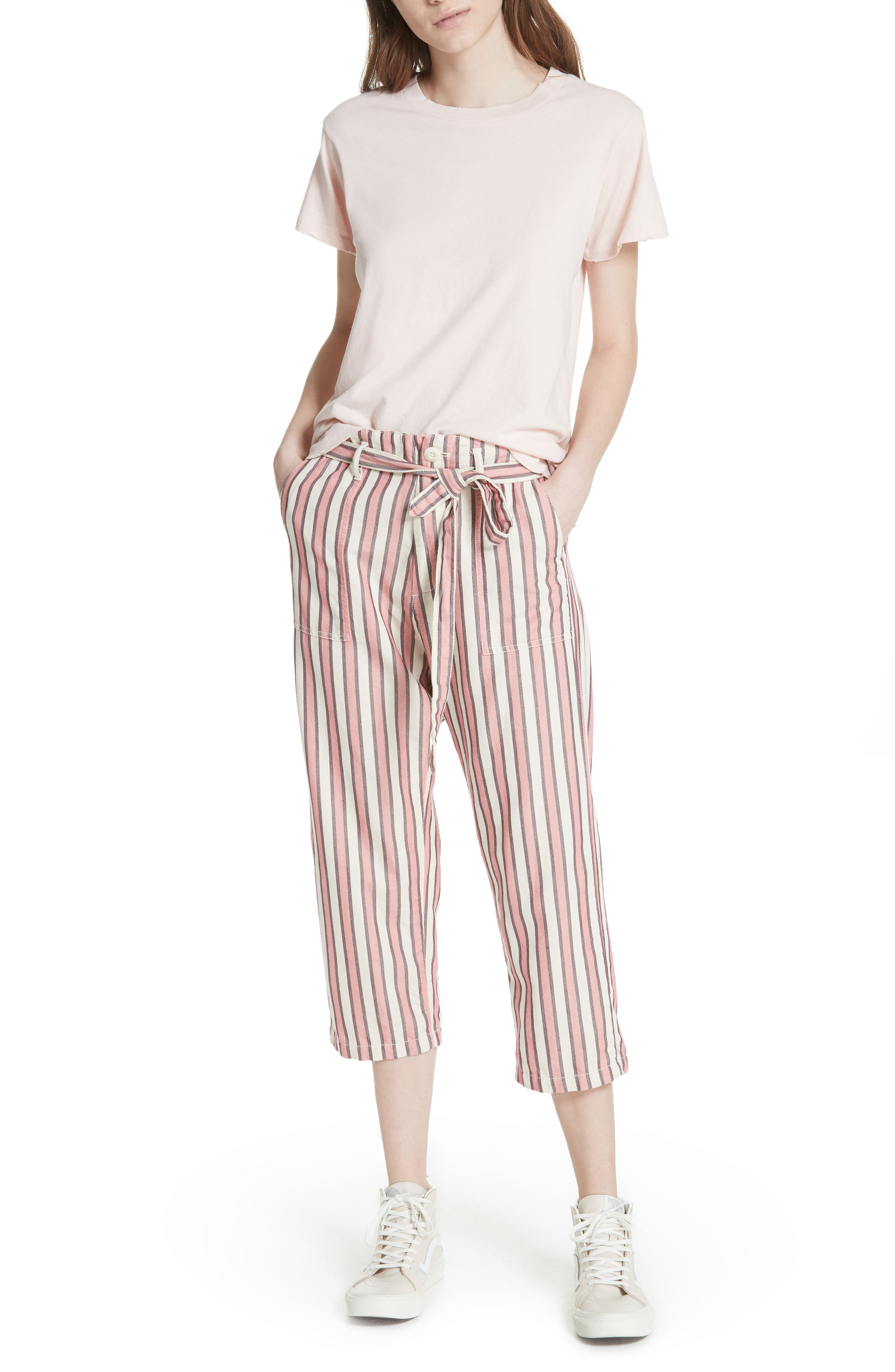 The Convertible Trousers,                             Alternate thumbnail 8, color,                             Pink Taffy Stripe
