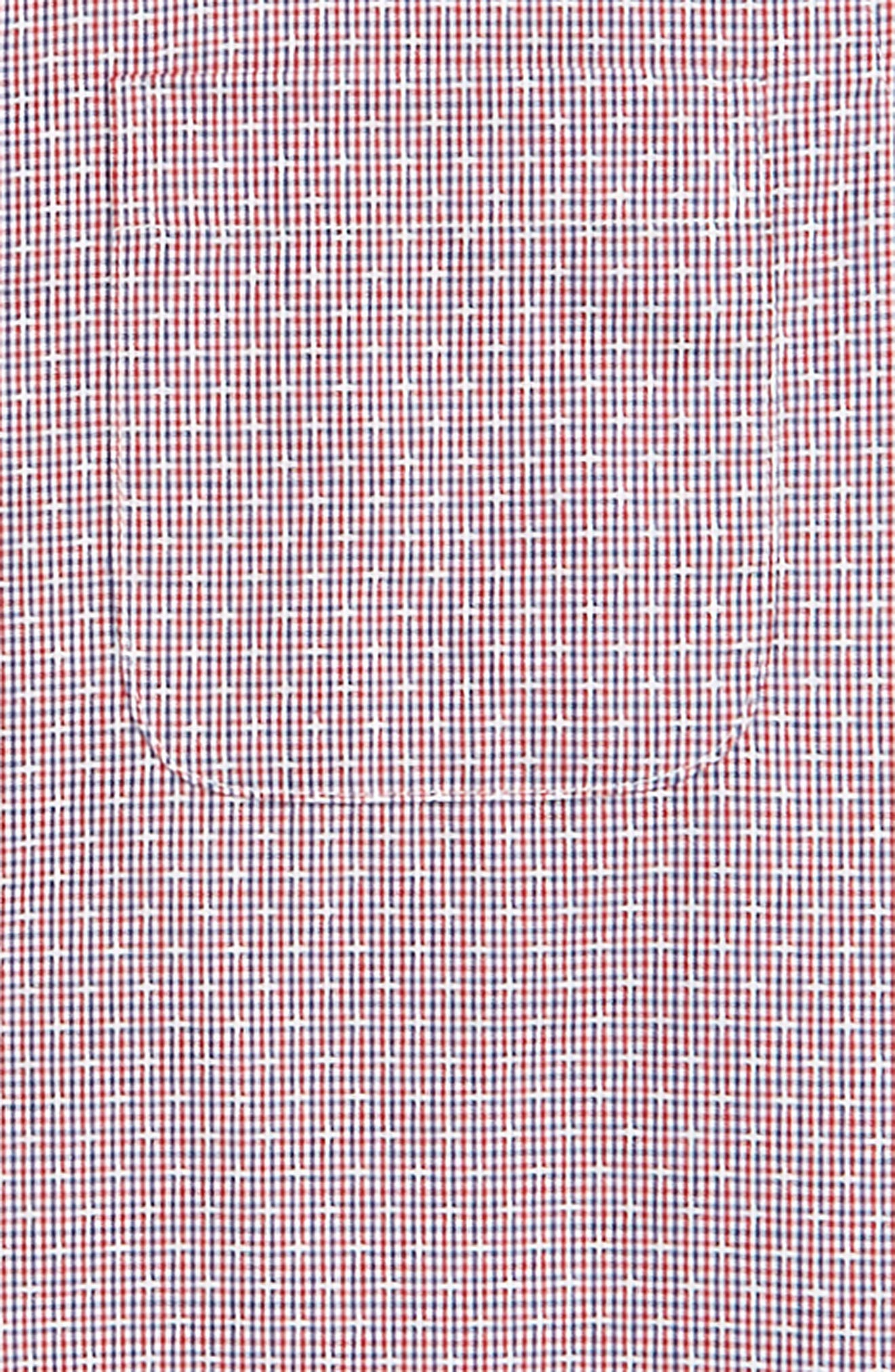 Check Dress Shirt,                             Alternate thumbnail 2, color,                             Red Sage- Navy Check