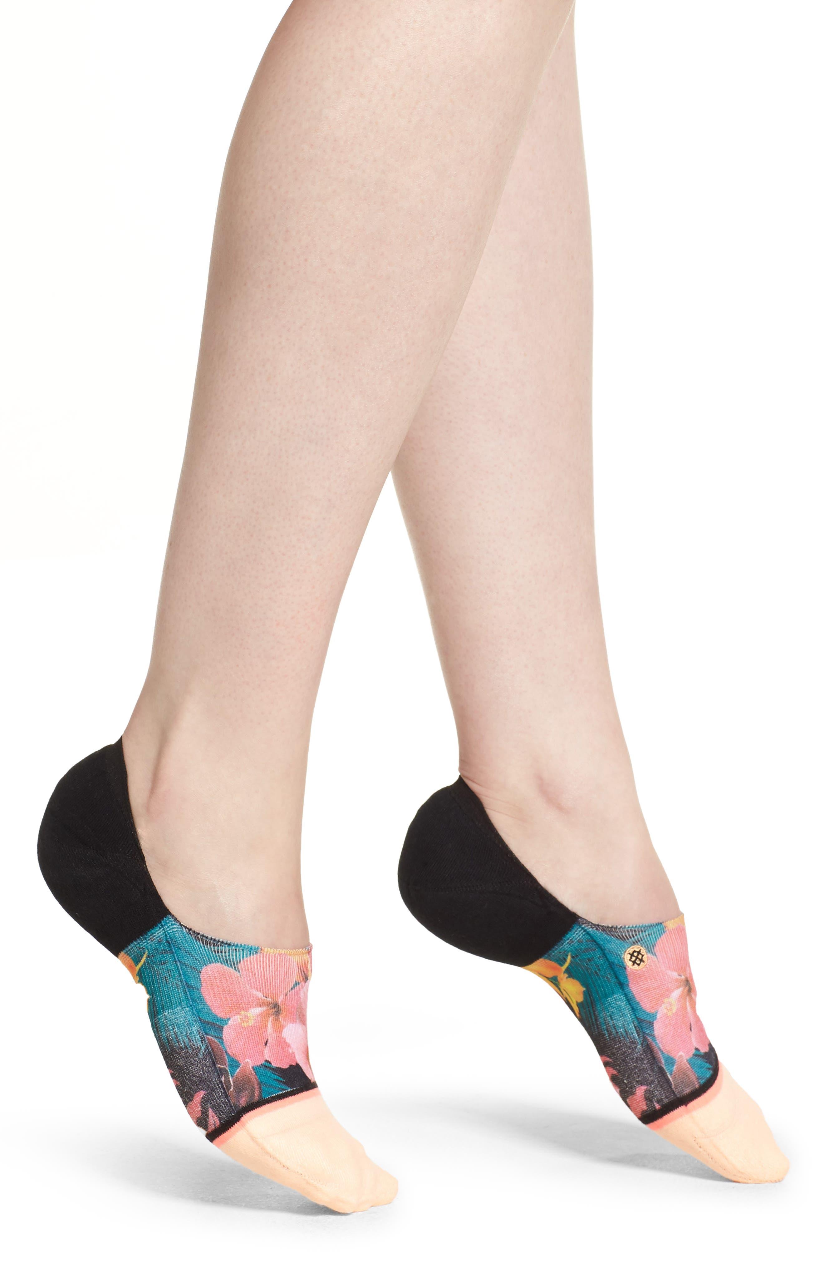 Caribbean Punch No-Show Socks,                         Main,                         color, Mango