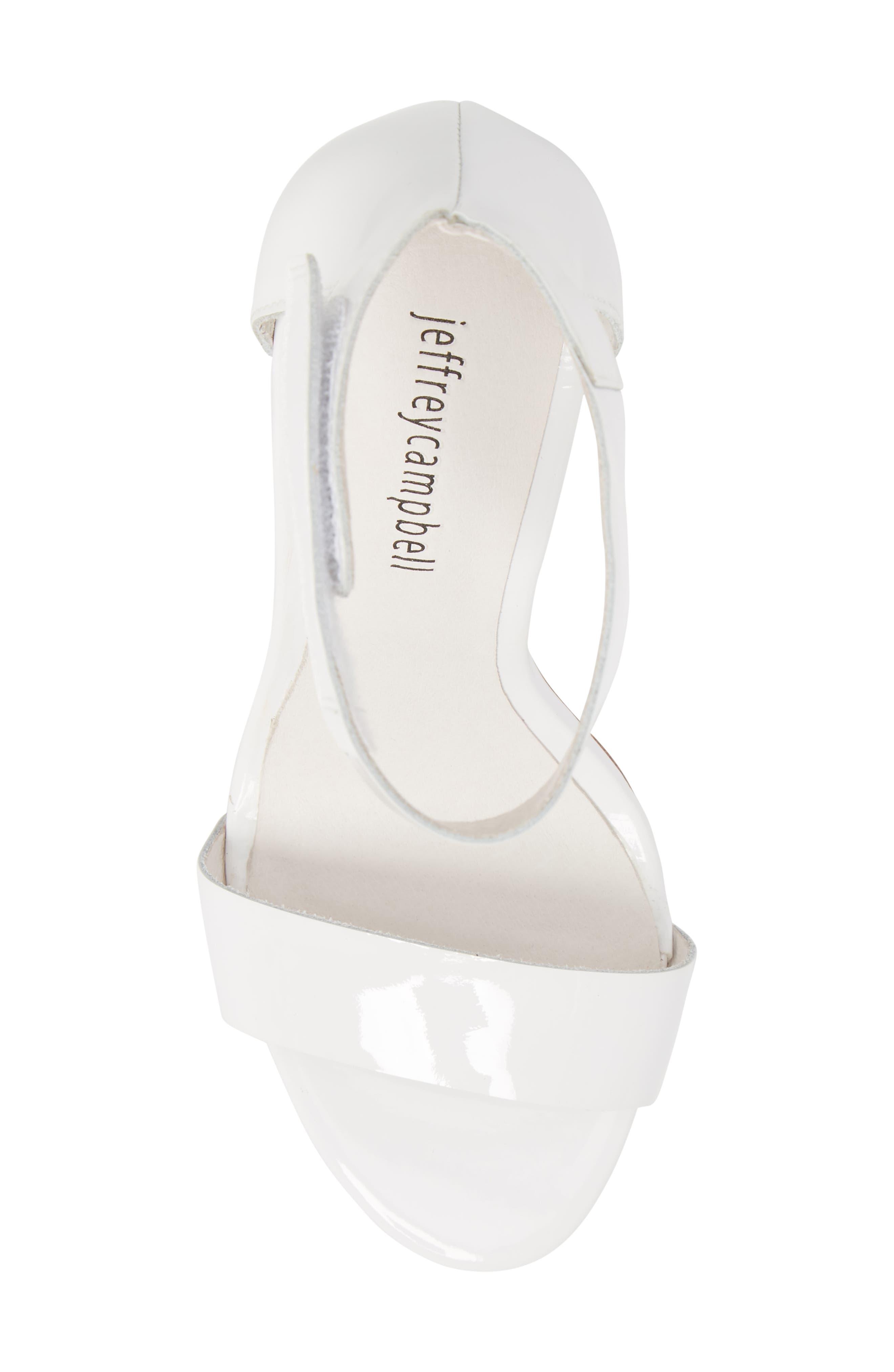 Alessa Clear Heel Sandal,                             Alternate thumbnail 5, color,                             White Patent