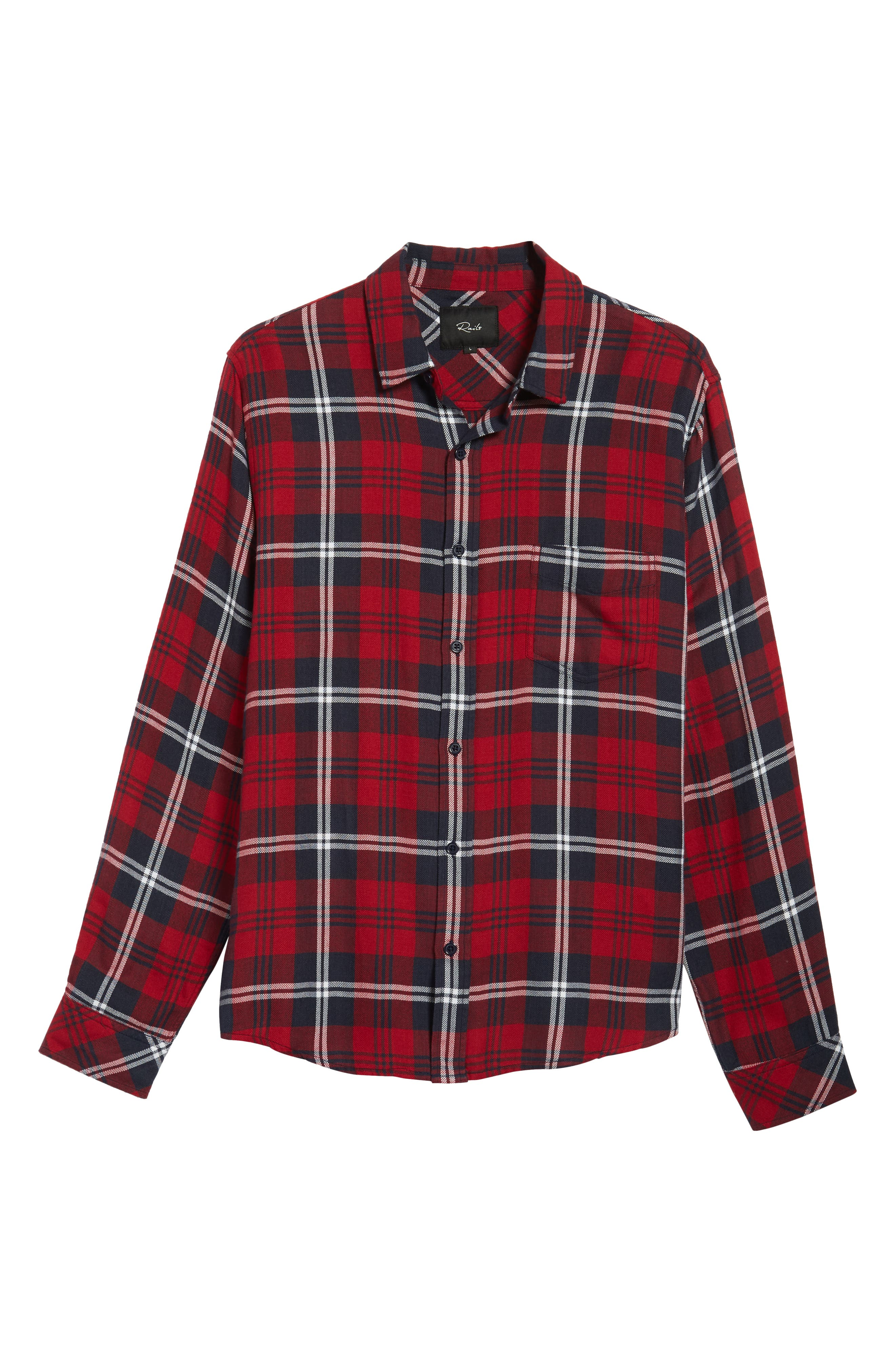 Lennox Sport Shirt,                             Alternate thumbnail 5, color,                             Red/ Navy/ White