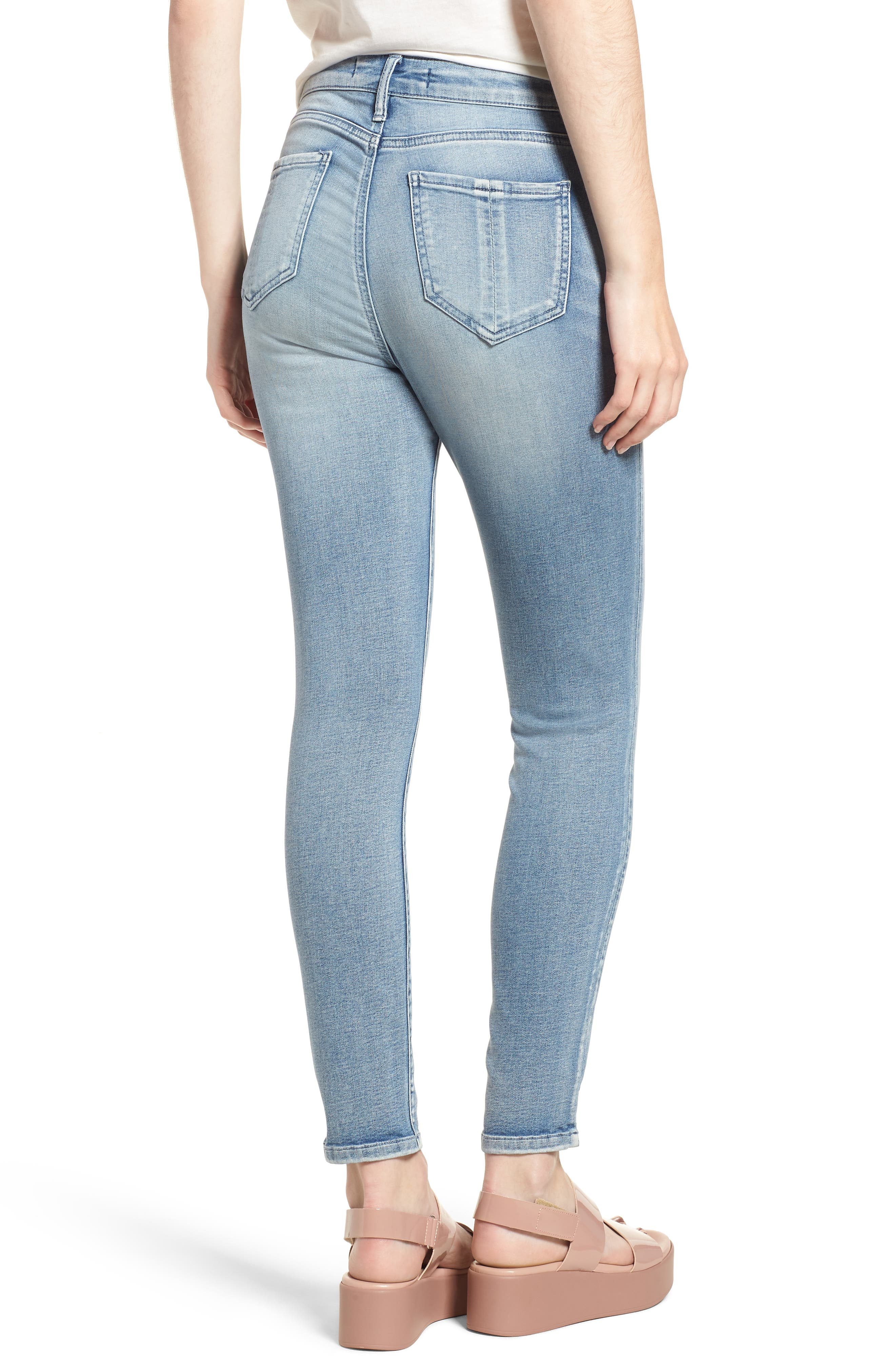 Ankle Skinny Jeans,                             Alternate thumbnail 2, color,                             Justice