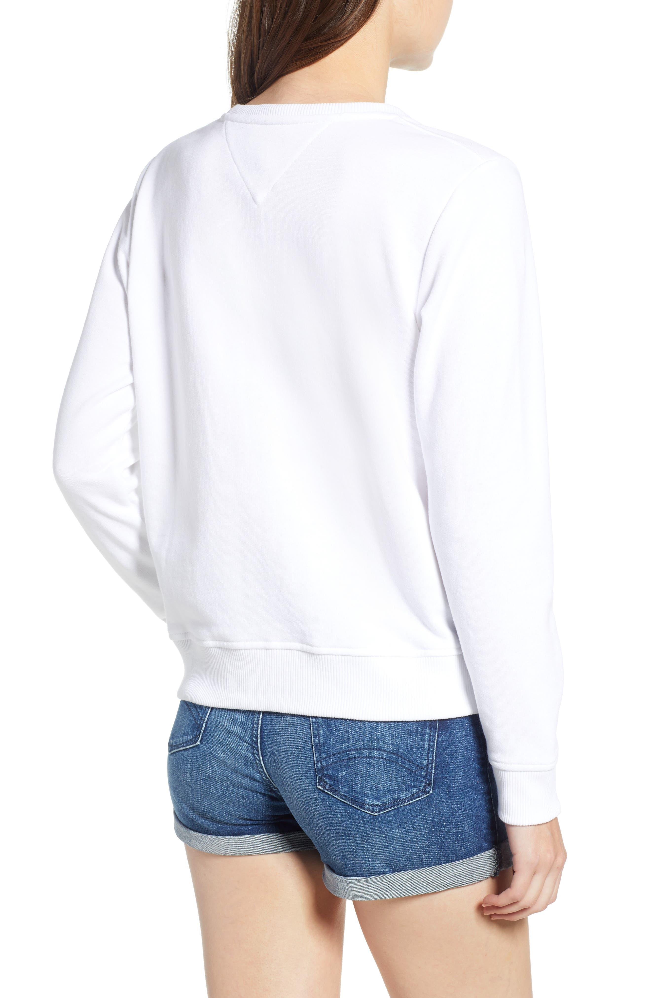 Summer Logo Sweatshirt,                             Alternate thumbnail 2, color,                             Bright White