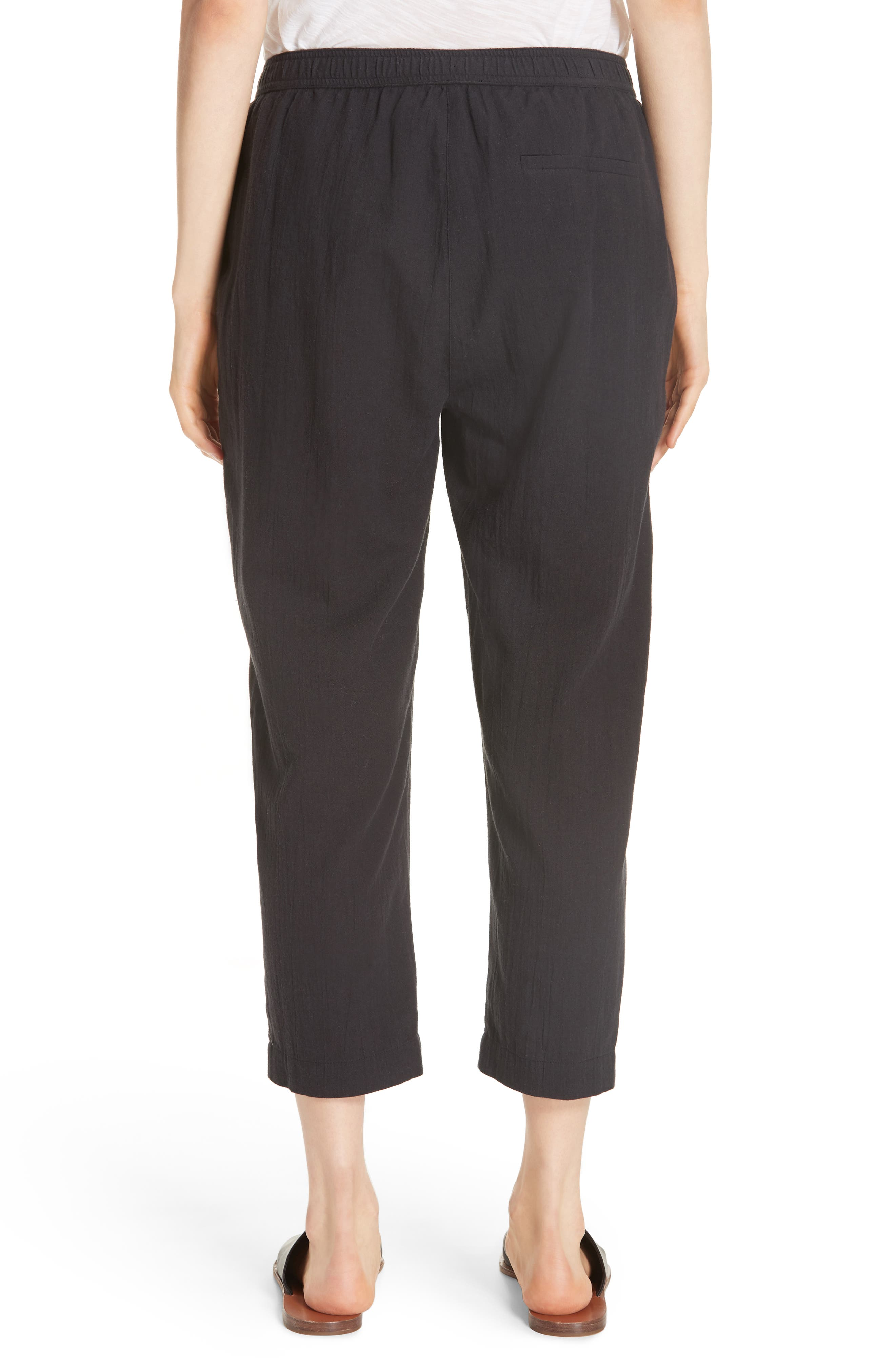 Tapered Cropped Pants,                             Alternate thumbnail 2, color,                             Black