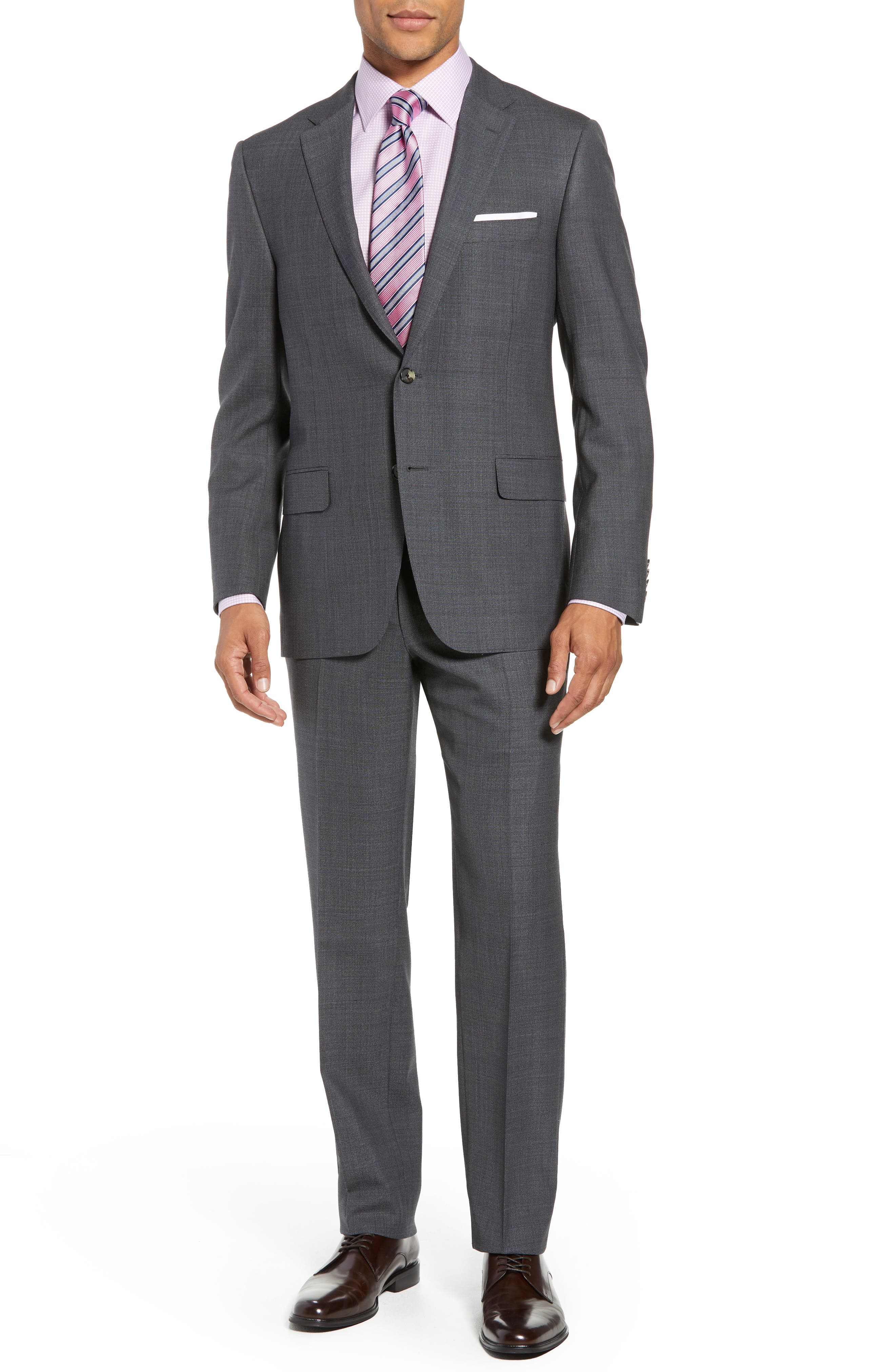 HICKEY FREEMAN CLASSIC FIT SOLID WOOL SUIT
