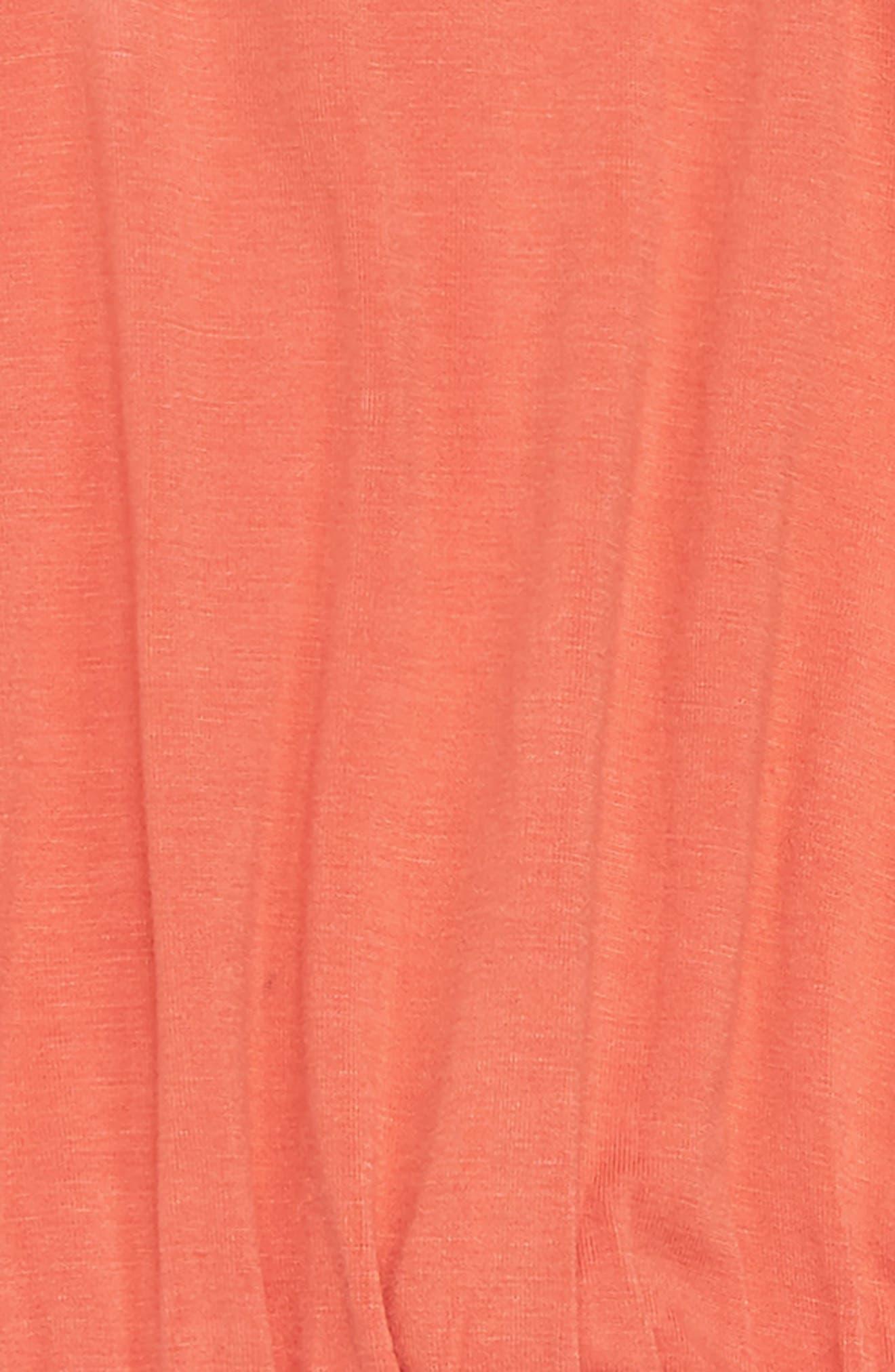 Macramé Romper,                             Alternate thumbnail 2, color,                             Coral Hot