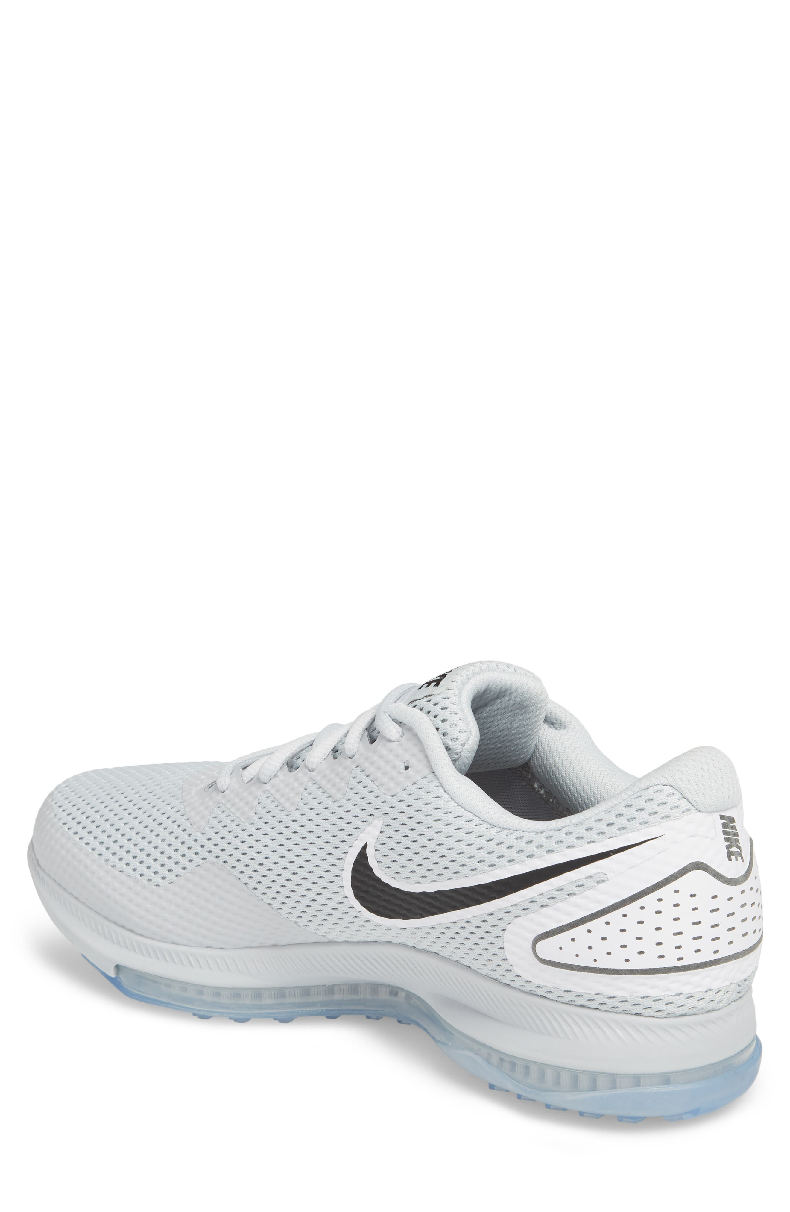 Zoom All Out Low 2 Running Shoe,                             Alternate thumbnail 4, color,                             Pure Platinum/ Black/ White