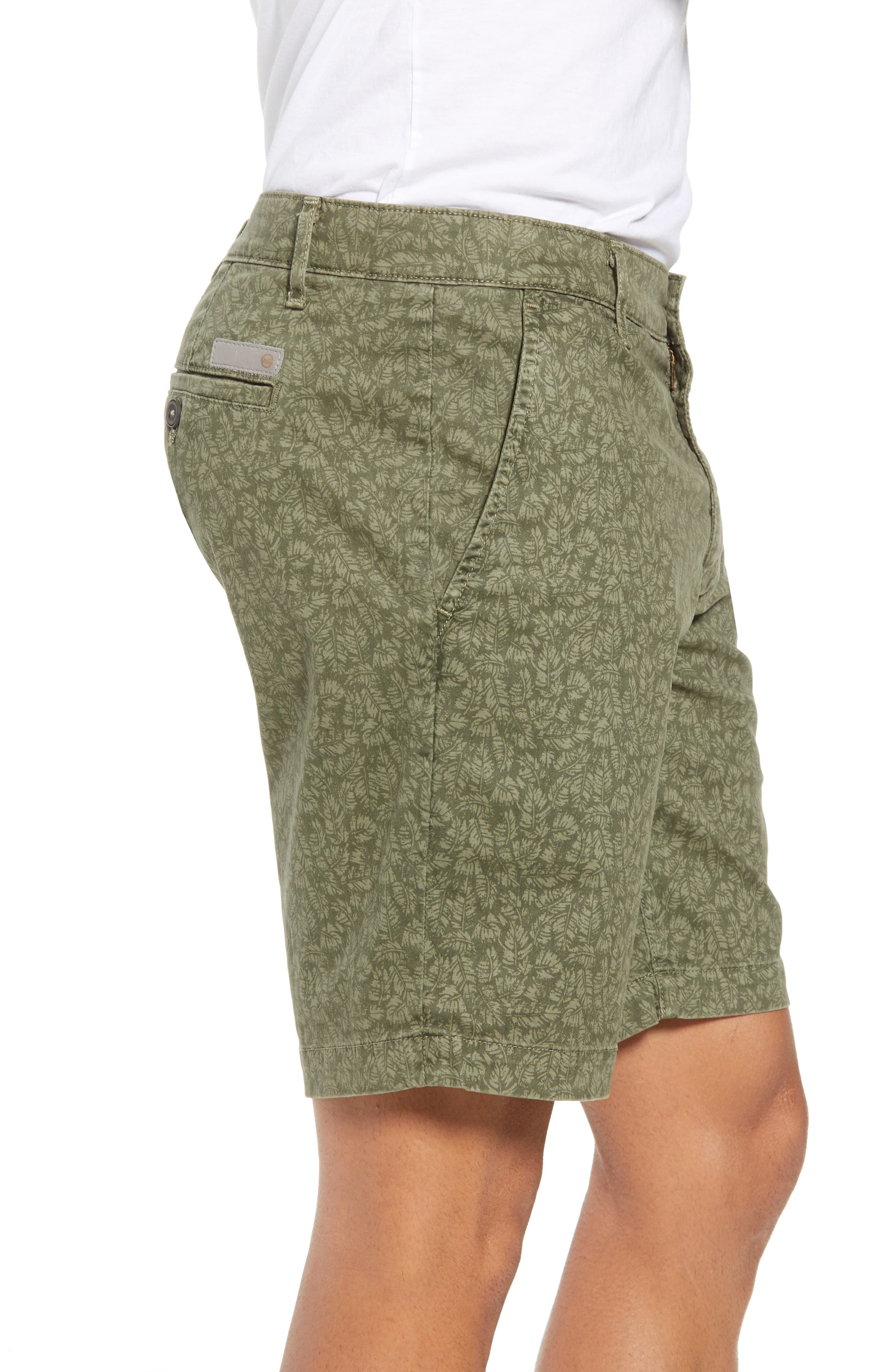 Lotas Slim Fit Stretch Cotton Shorts,                             Alternate thumbnail 3, color,                             Sulfur Dry Cypress
