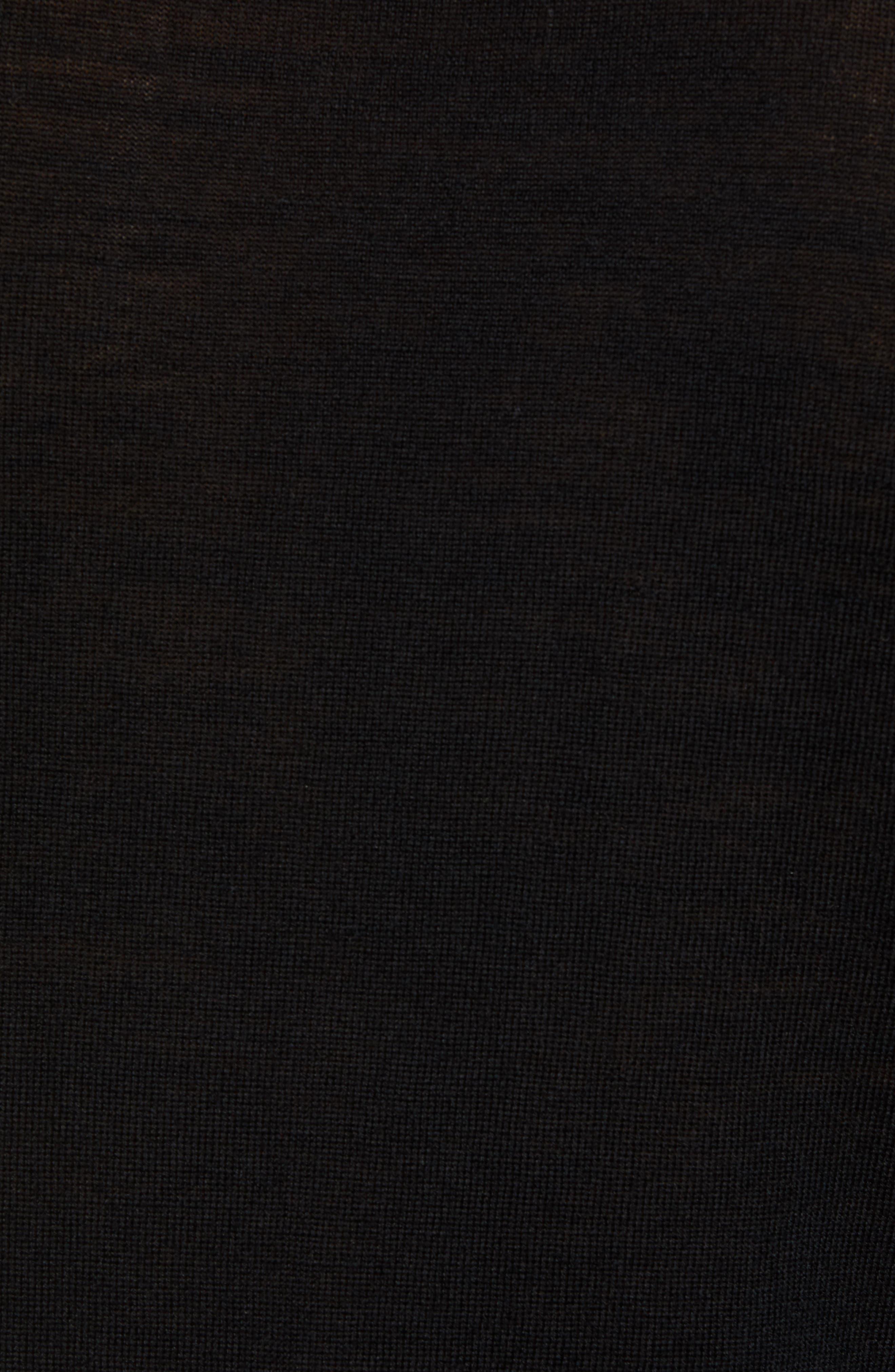 Mode Slim Fit Merino Wool Sweater,                             Alternate thumbnail 5, color,                             Black