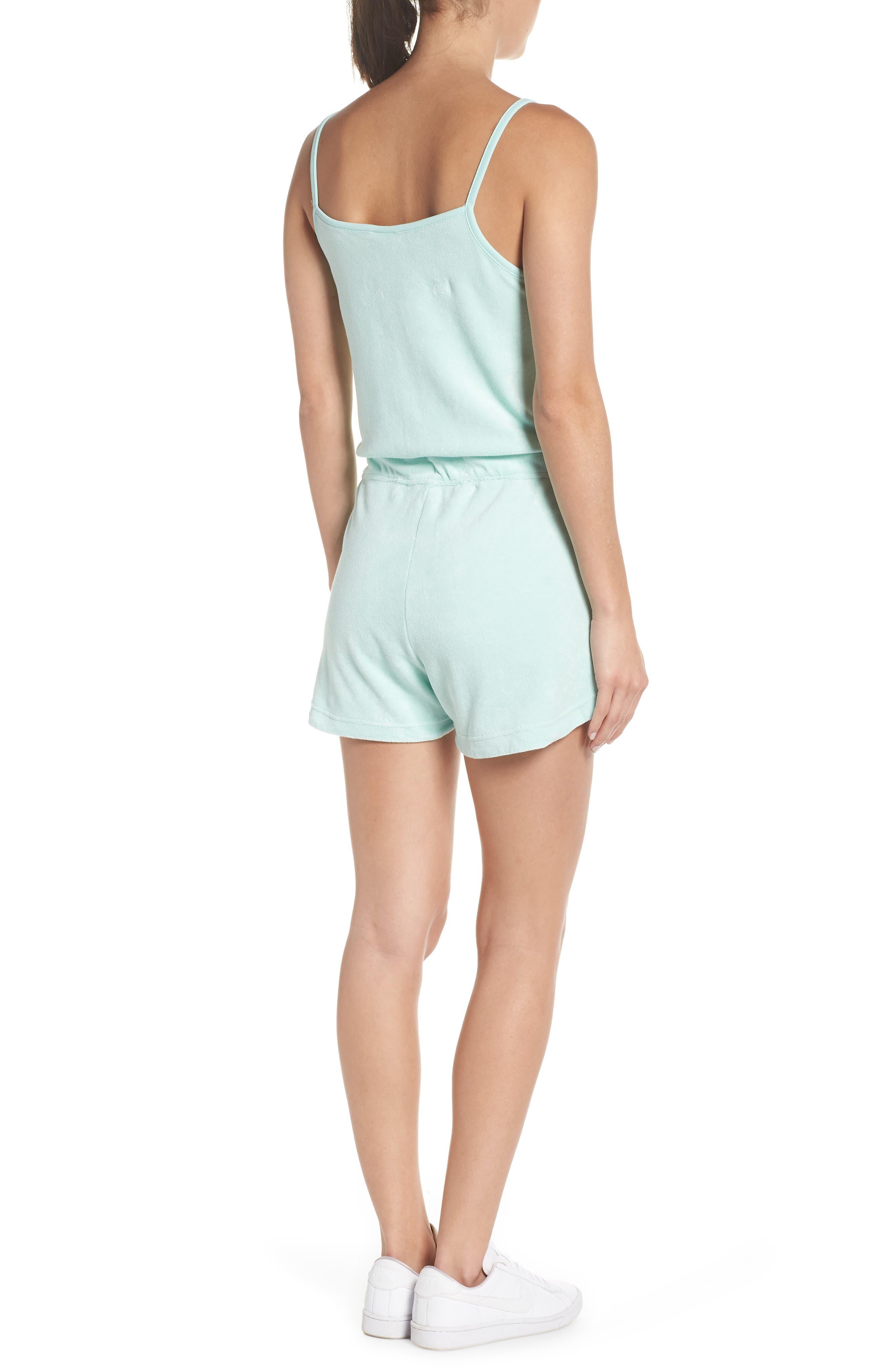 Sportswear Terry Romper,                             Alternate thumbnail 2, color,                             Igloo/ Igloo/ White