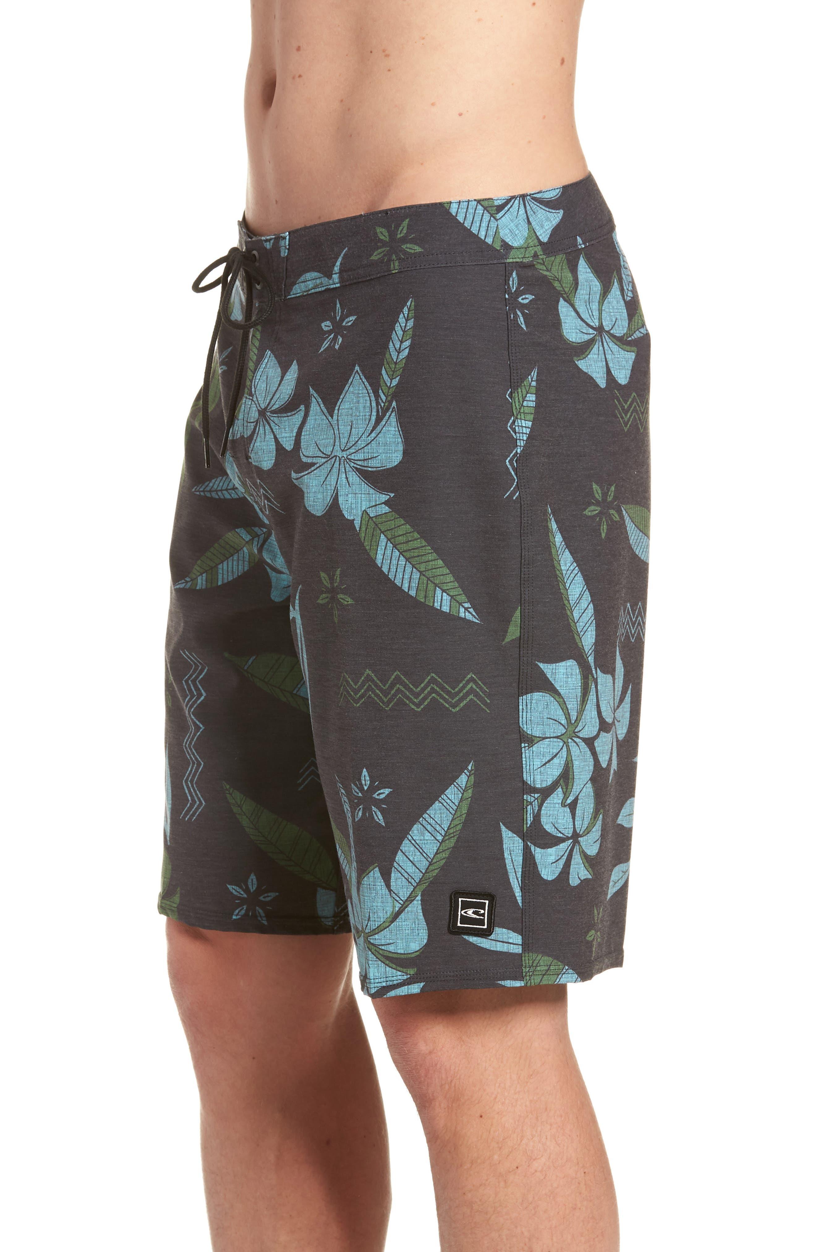 Maui Board Shorts,                             Alternate thumbnail 3, color,                             Black