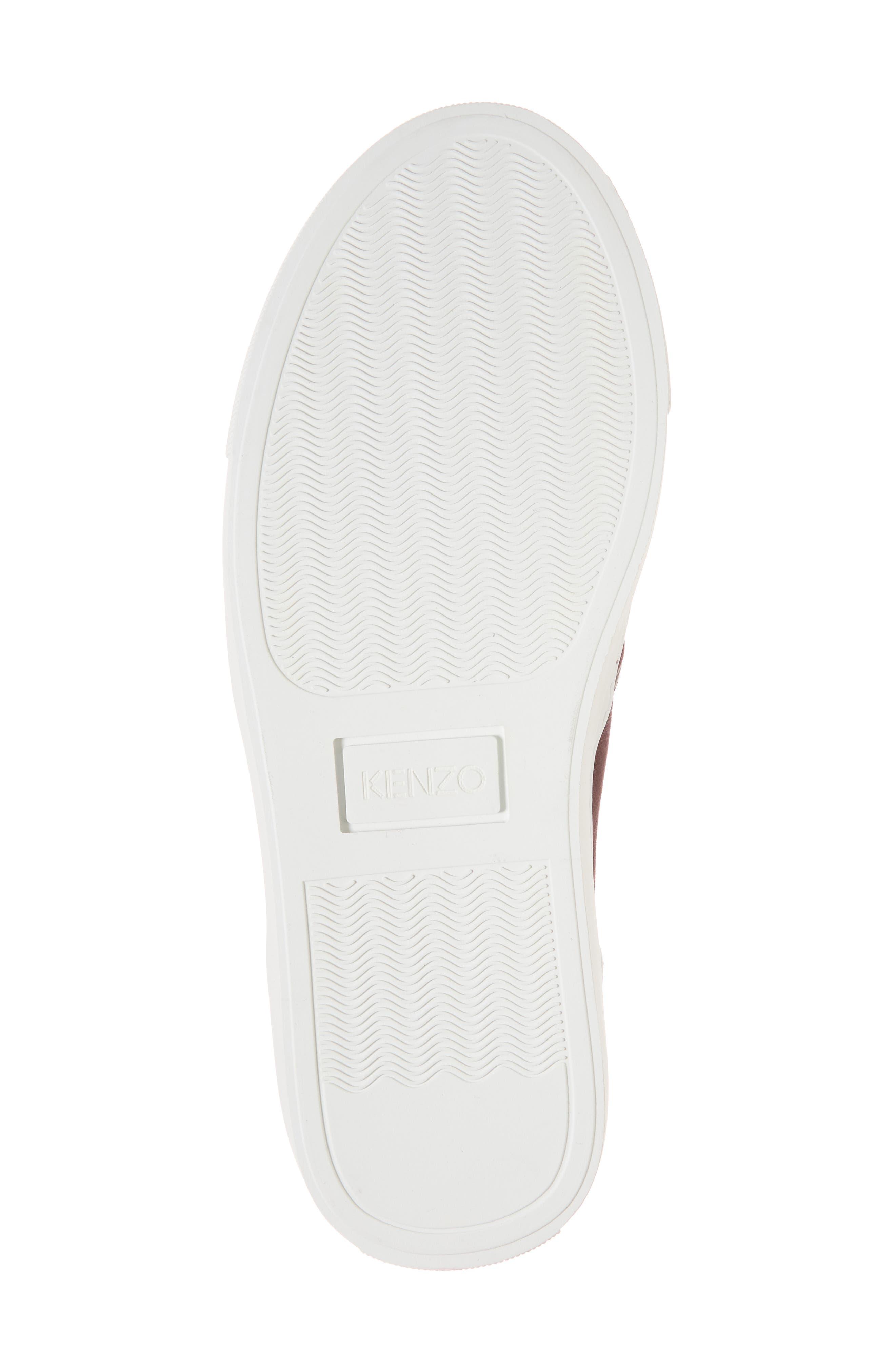 K Skate Embroidered Slip-On Sneaker,                             Alternate thumbnail 5, color,                             Bordeaux