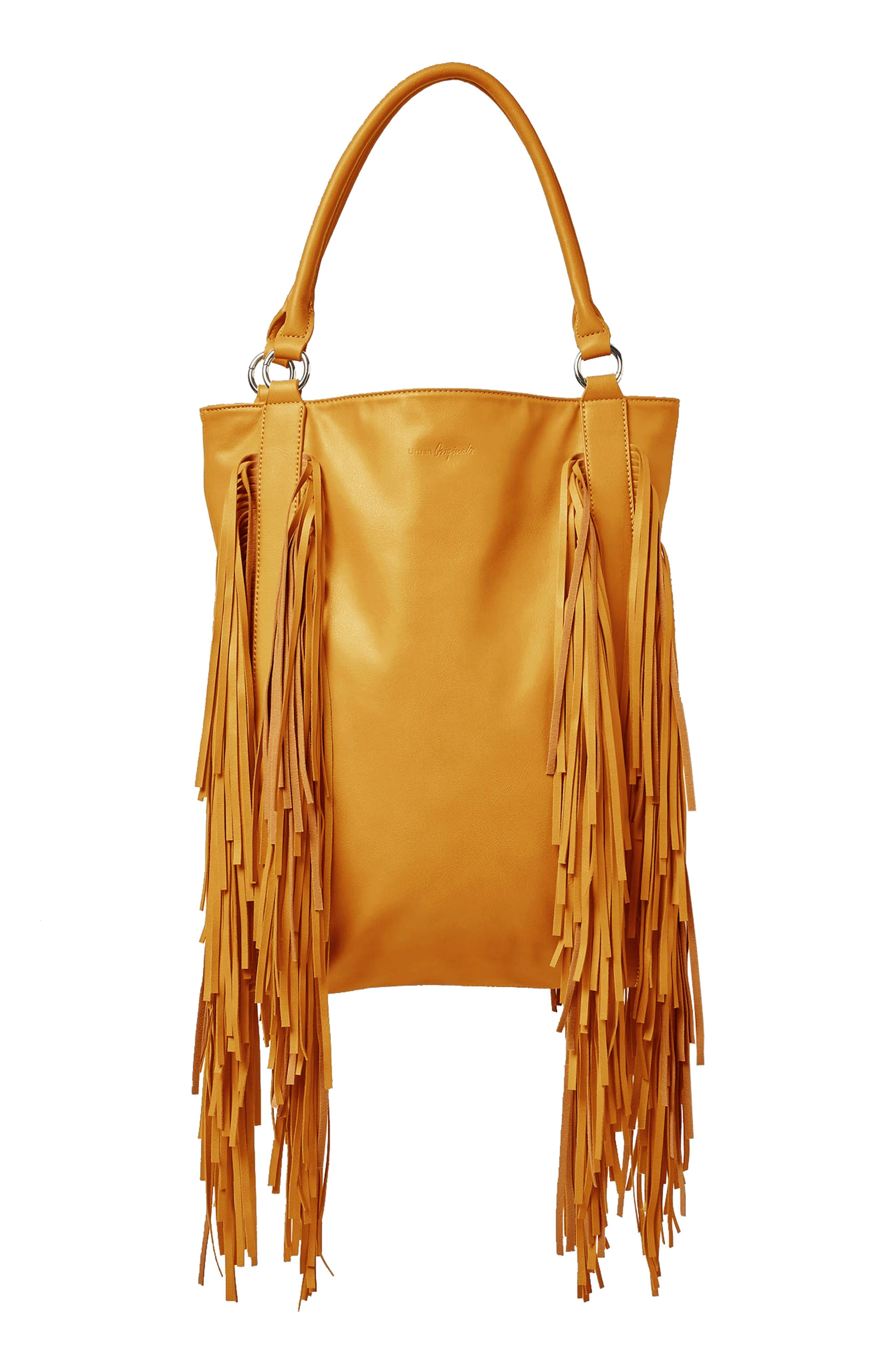 Crazy Love Vegan Leather Tote,                         Main,                         color, Mustard