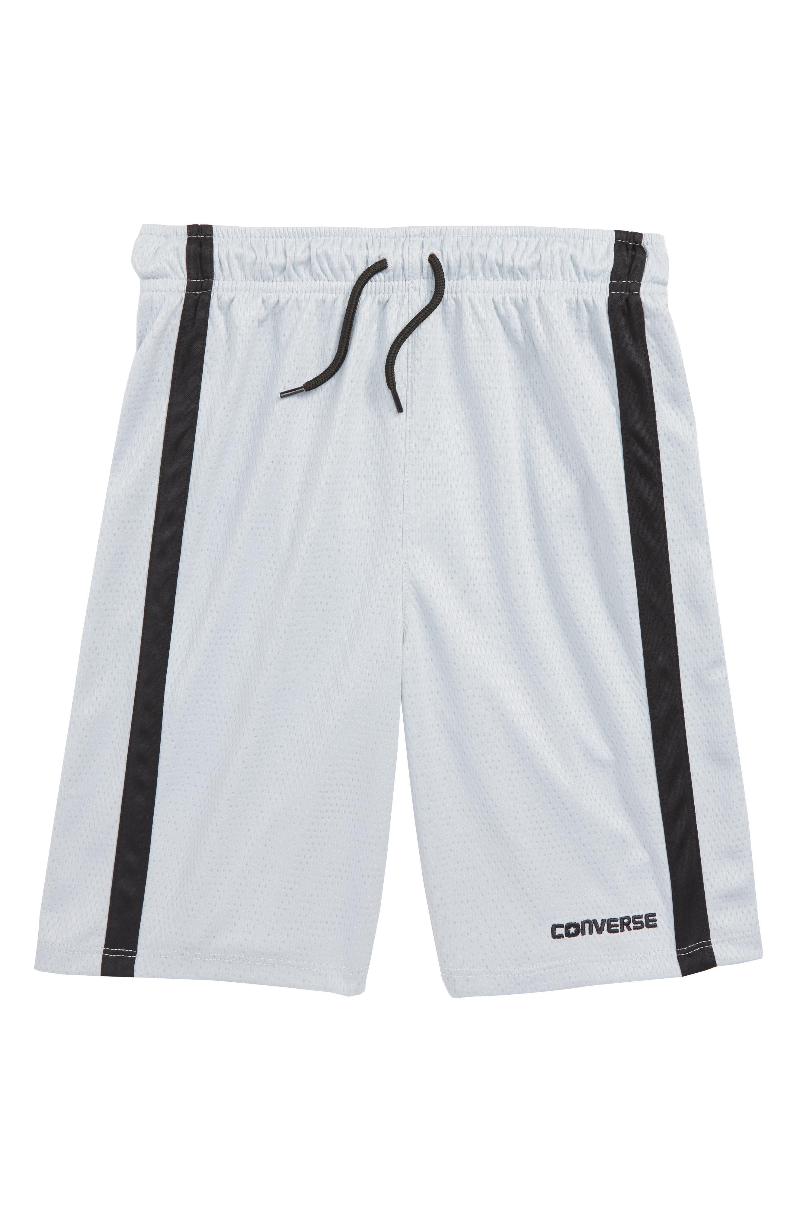 Stripe Mesh Shorts,                         Main,                         color, Wolf Grey