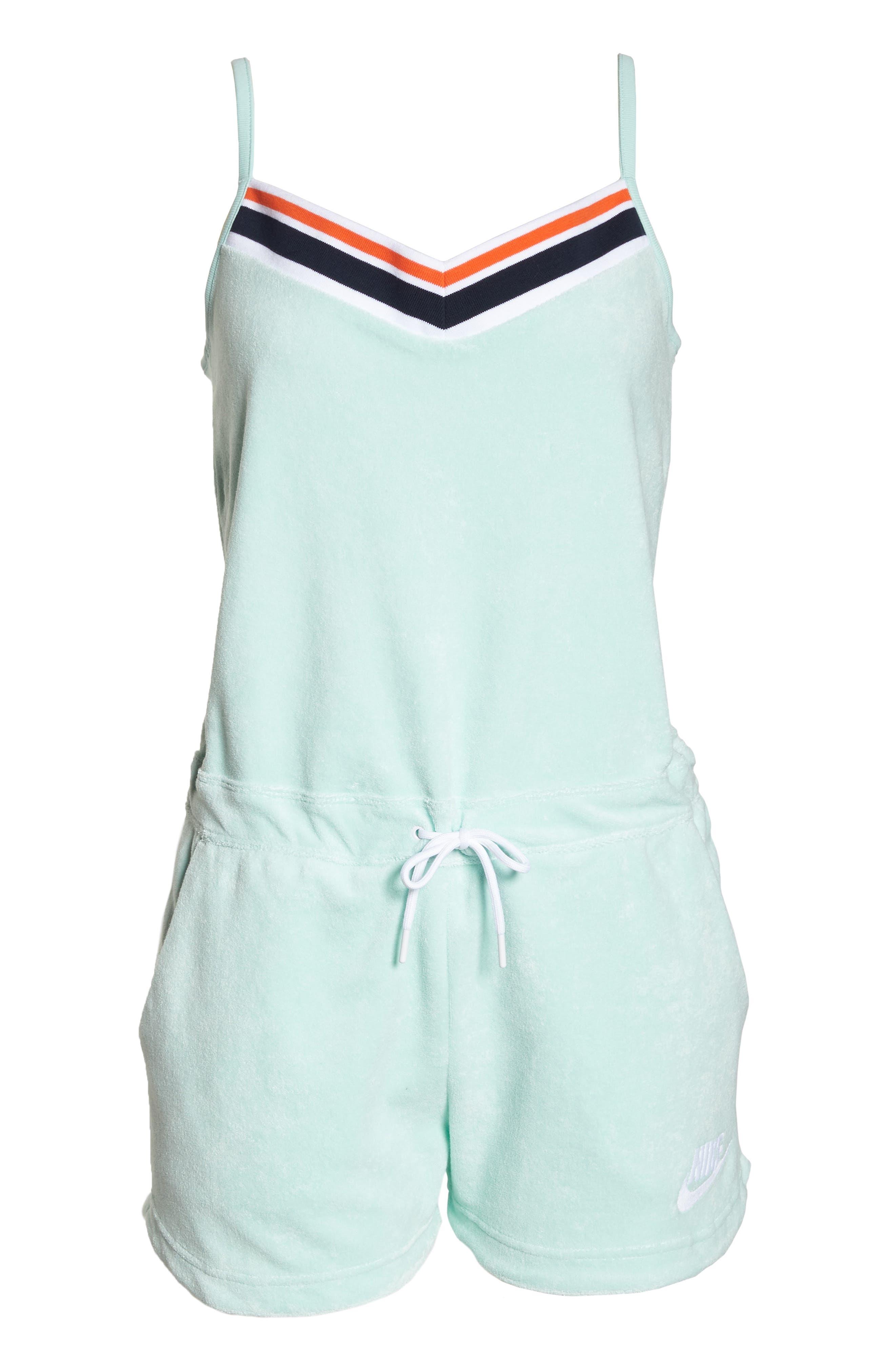 Sportswear Terry Romper,                             Alternate thumbnail 7, color,                             Igloo/ Igloo/ White
