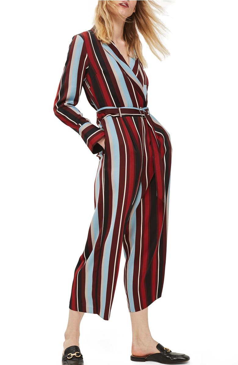 Stripe Jumpsuit, Main, color, Black Multi