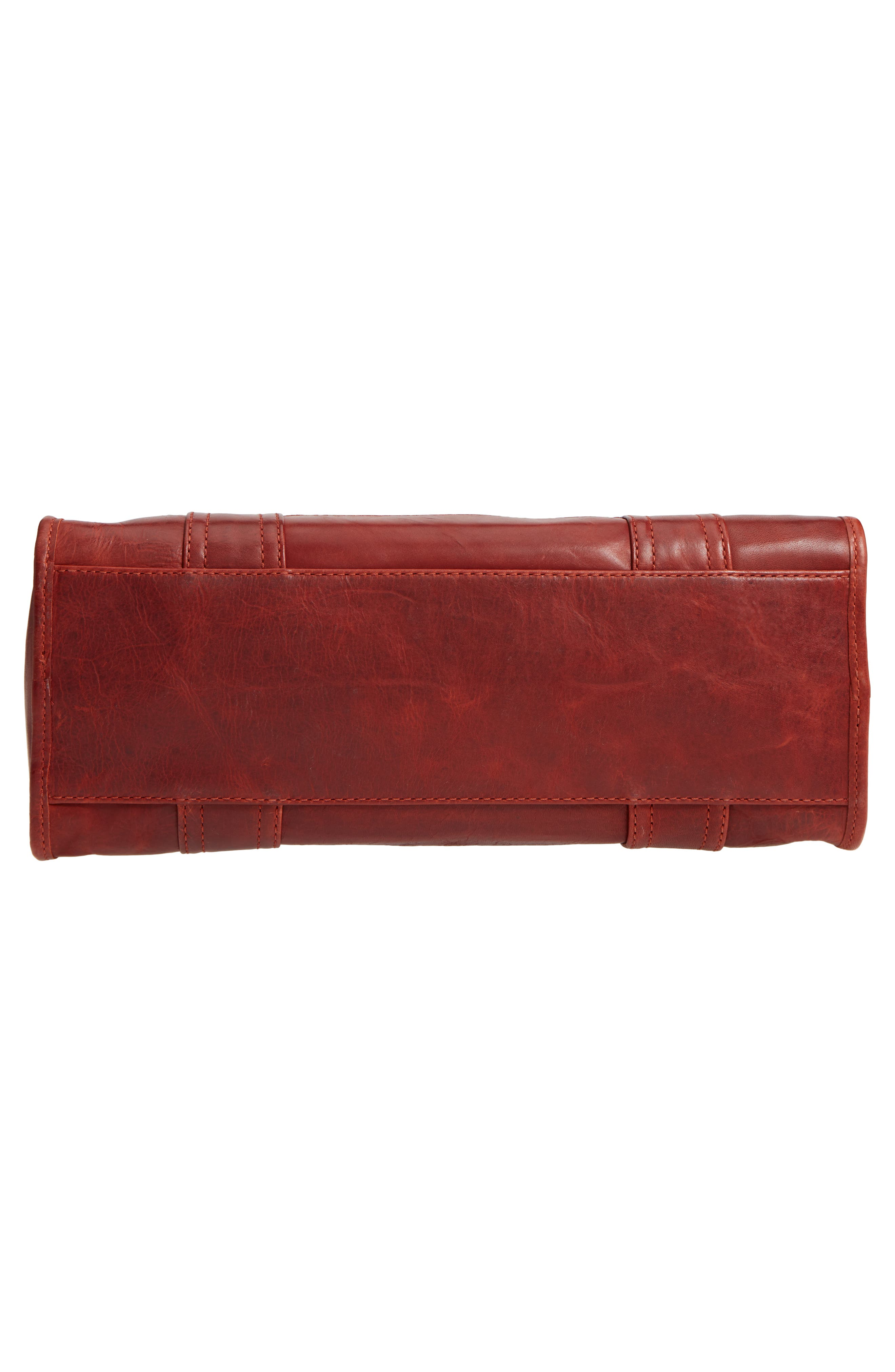 'Melissa' Washed Leather Satchel,                             Alternate thumbnail 6, color,                             Red Clay