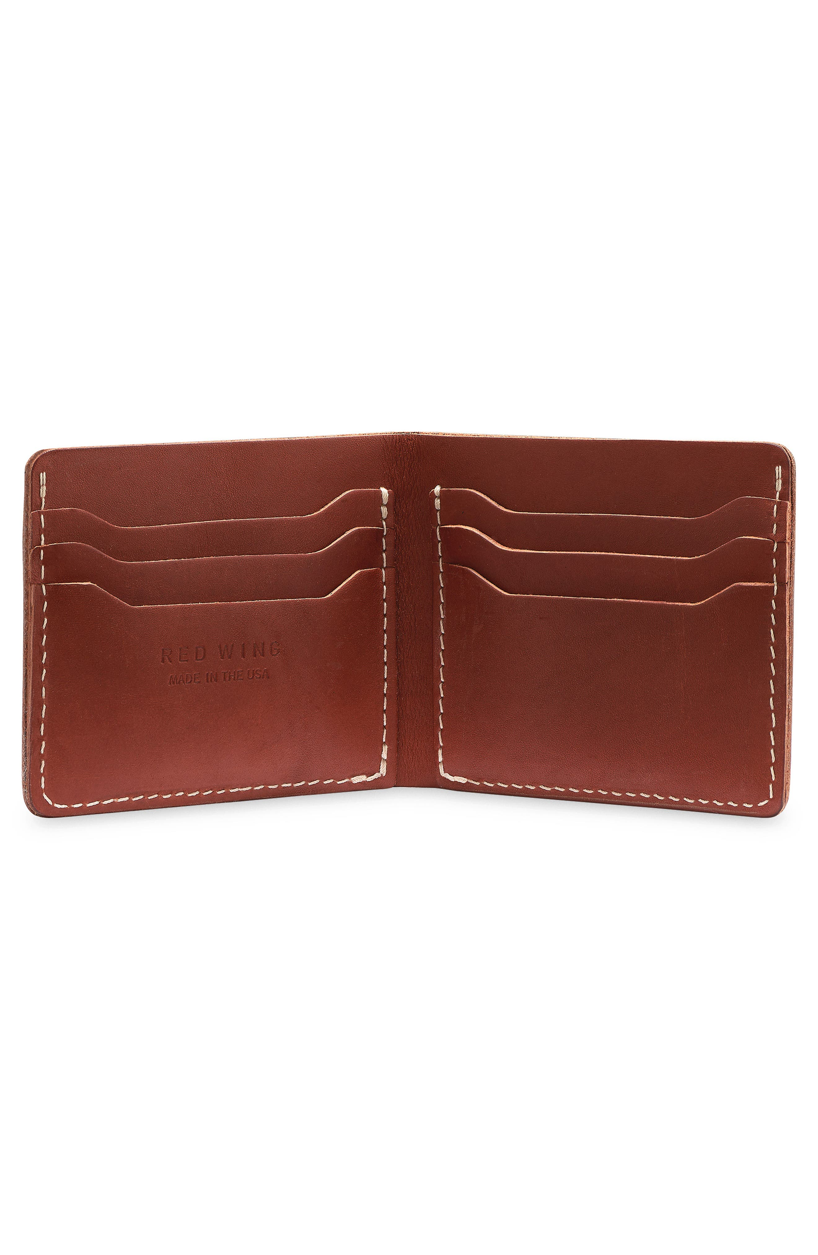 Classic Bifold Leather Wallet,                             Alternate thumbnail 2, color,                             Oro Russet