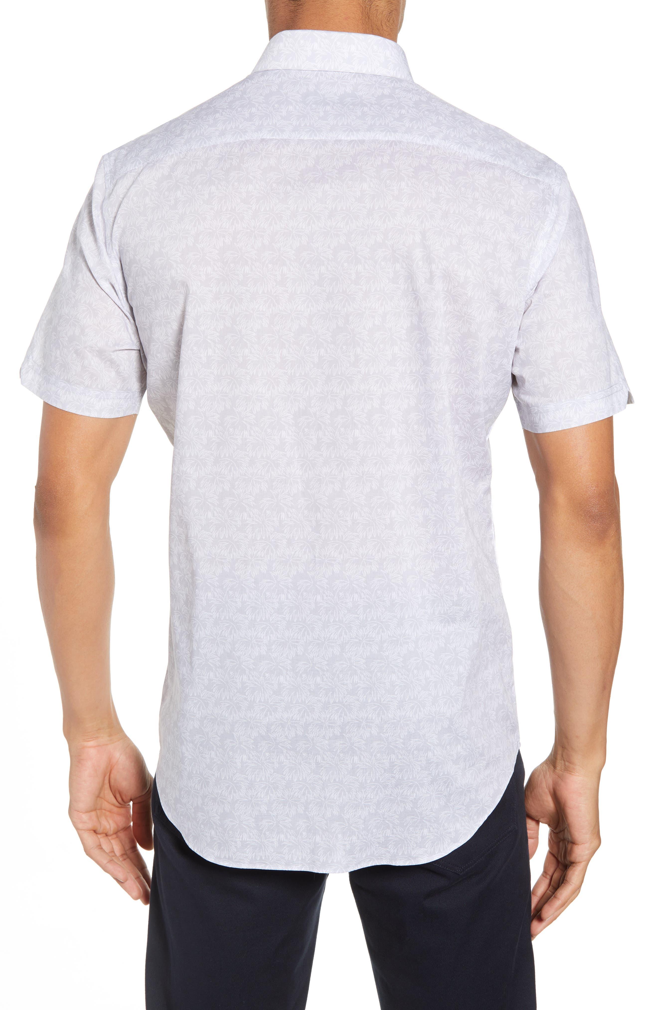 Slenske Trim Fit Sport Shirt,                             Alternate thumbnail 3, color,                             Light Grey