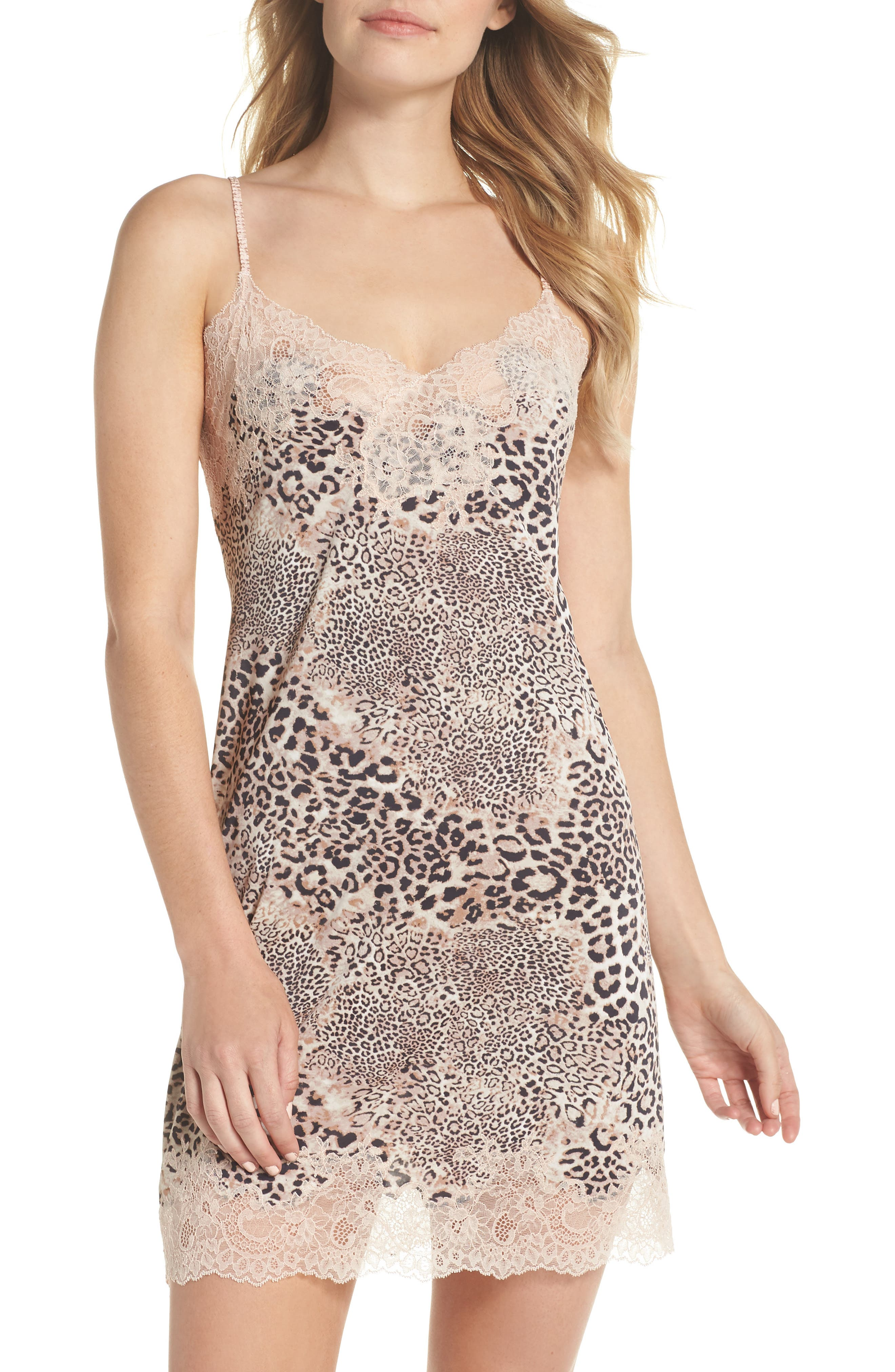 Exotic Animal Chemise,                         Main,                         color, Natural