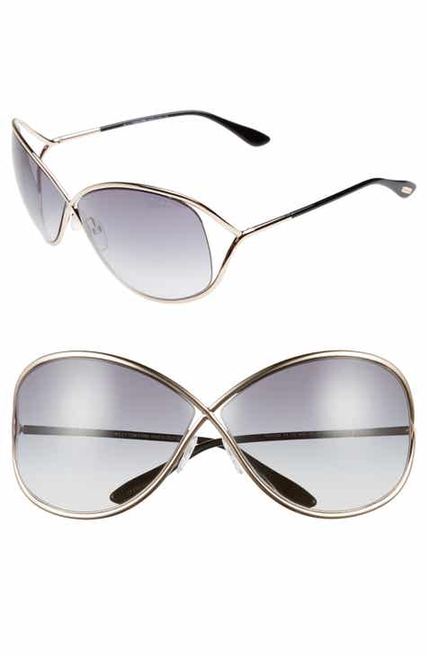 7782f297223 Tom Ford Miranda 68mm Open Temple Oversize Metal Sunglasses
