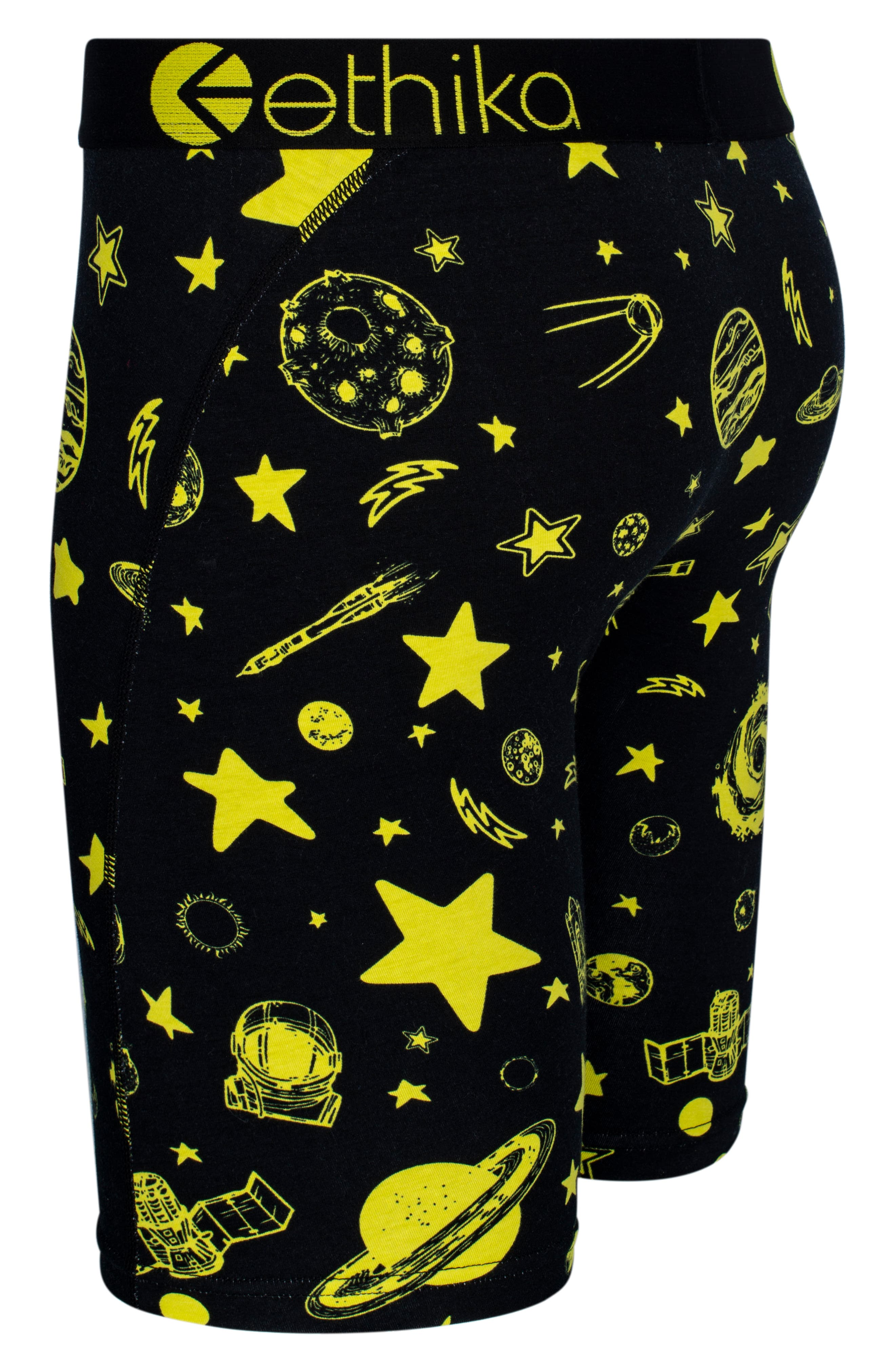 Ceiling Stars Stretch Boxer Briefs,                             Alternate thumbnail 2, color,                             Black