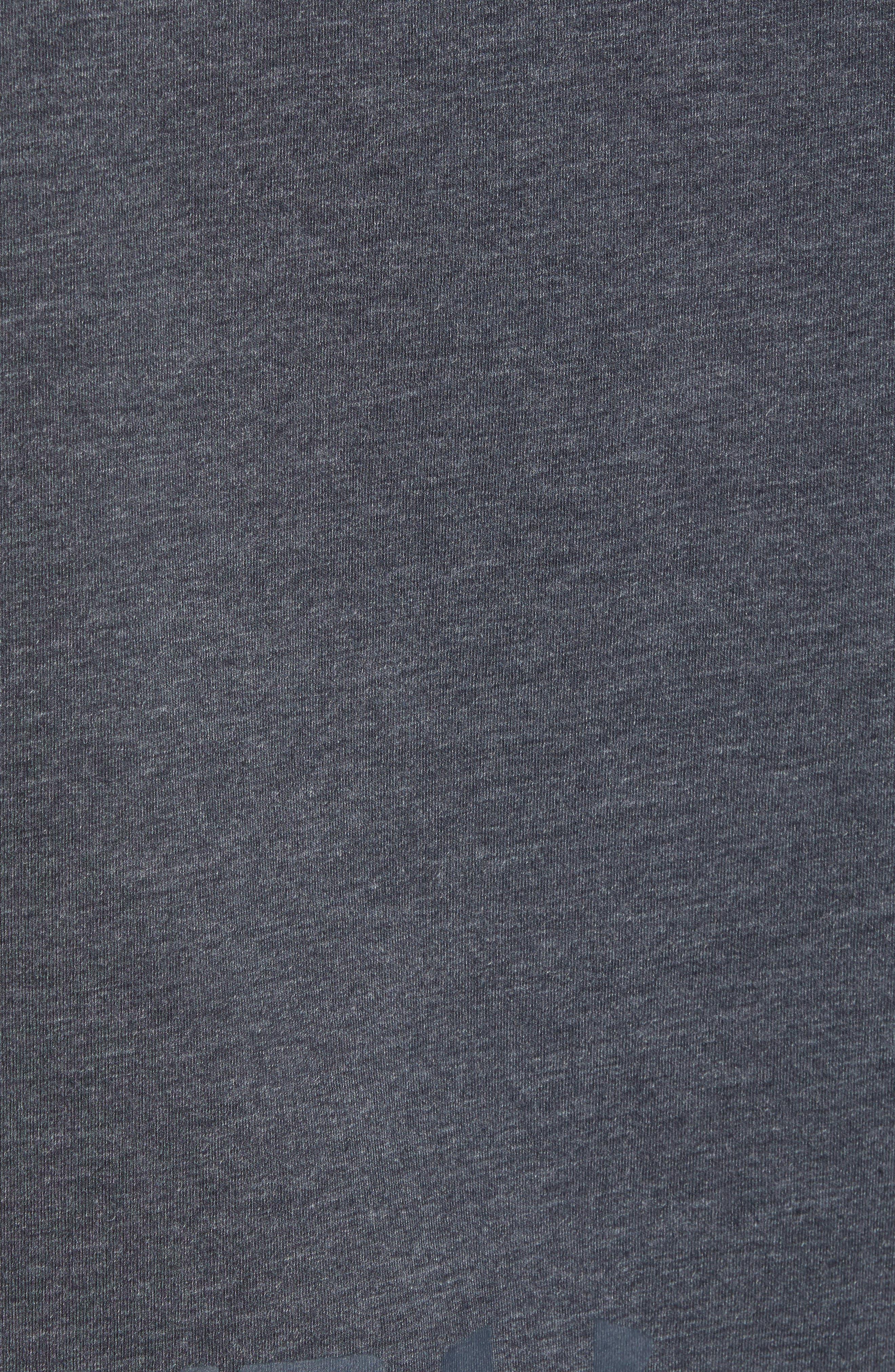 Pursuit Short Sleeve Hoodie,                             Alternate thumbnail 5, color,                             Black/ Black/ Stealth Gray