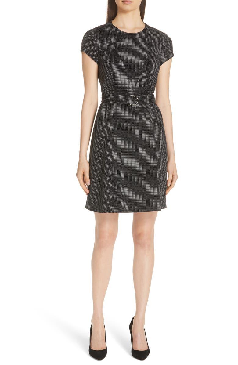 Dumano Belted Pin Dot Dress