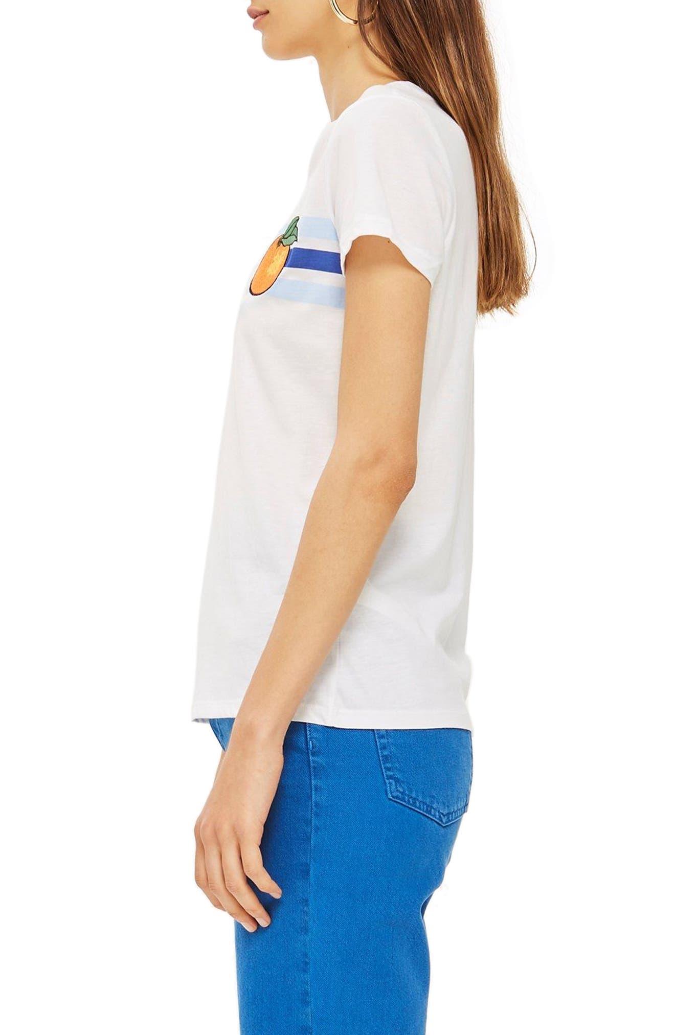Satsuma Retro T-Shirt,                             Alternate thumbnail 3, color,                             White Multi