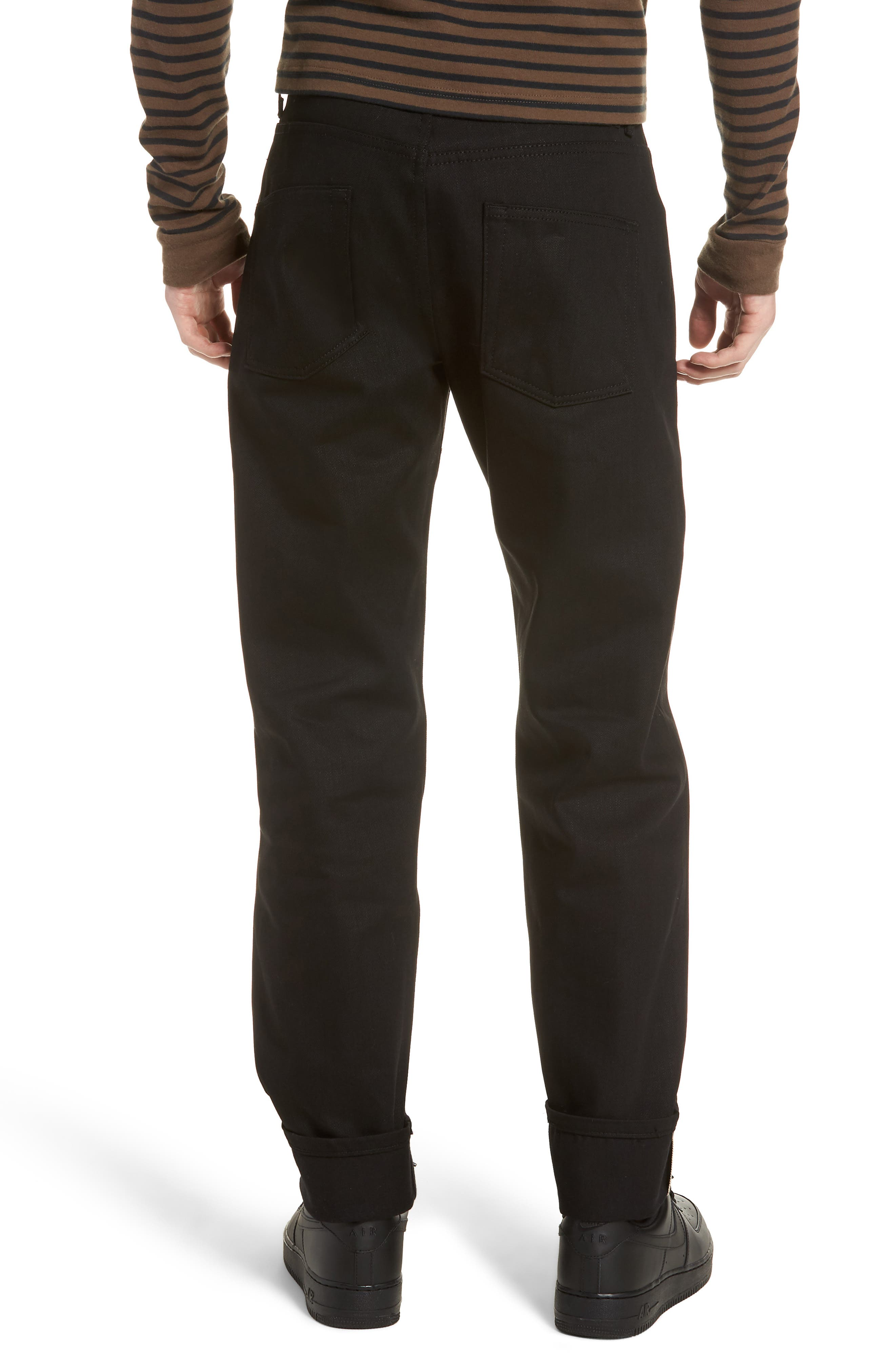 Naked & Famous Easy Guy Relaxed Fit Jeans,                             Alternate thumbnail 2, color,                             Solid Black Selvedge