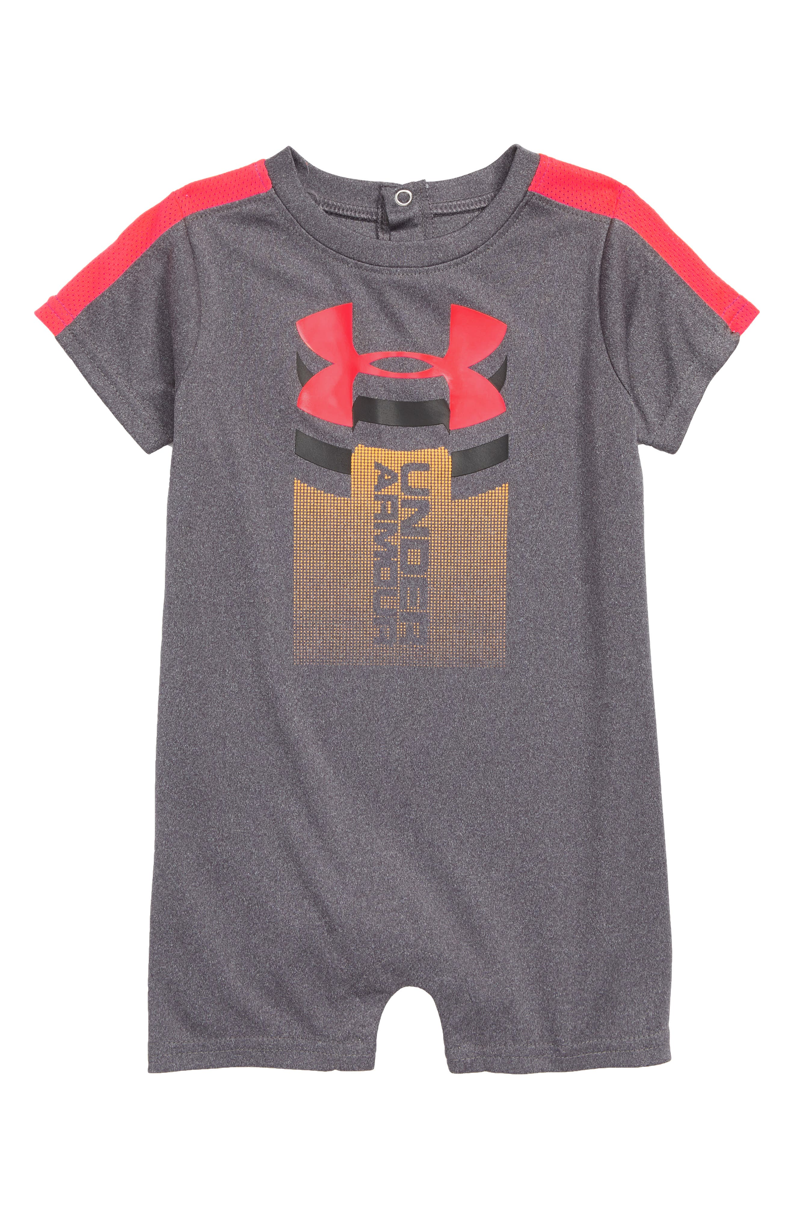 Rising Logo HeatGear<sup>®</sup> Romper,                         Main,                         color, Carbon Heather