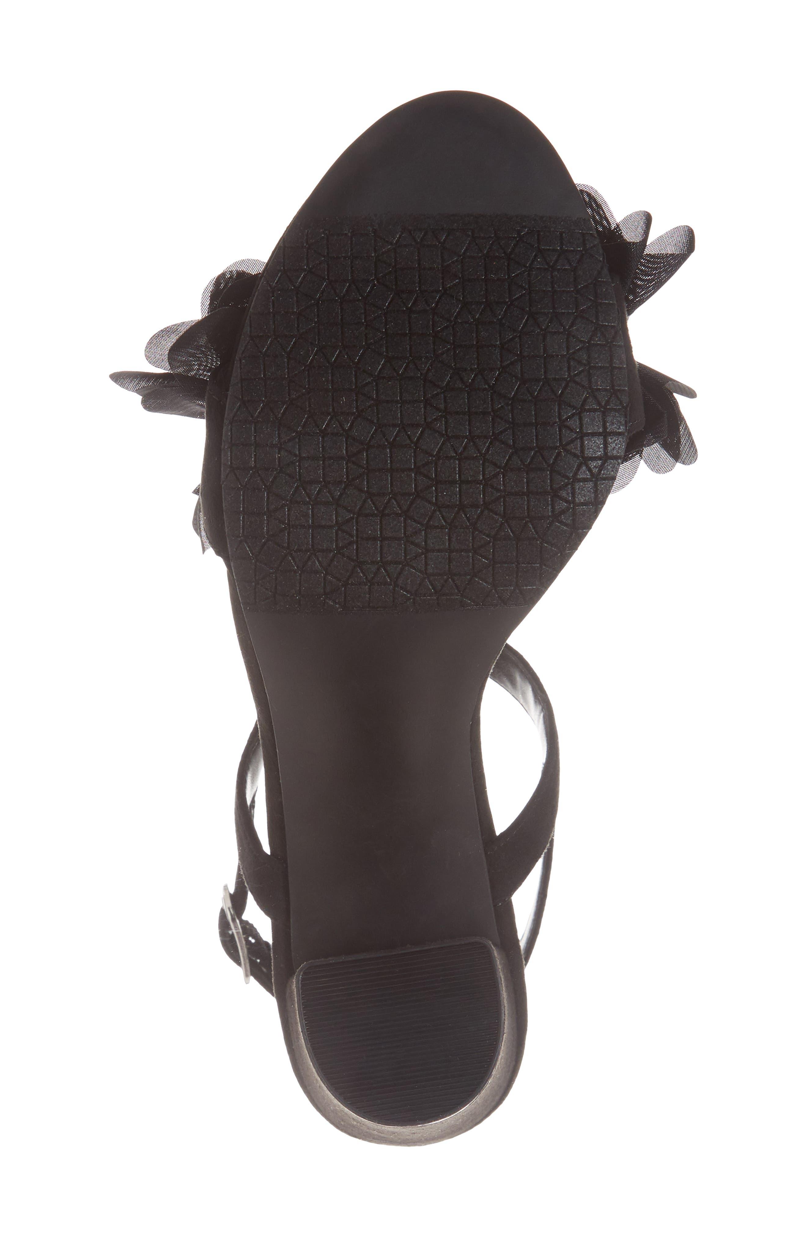 Lula Block Heel Slingback Sandal,                             Alternate thumbnail 6, color,                             Black Flowers Fabric