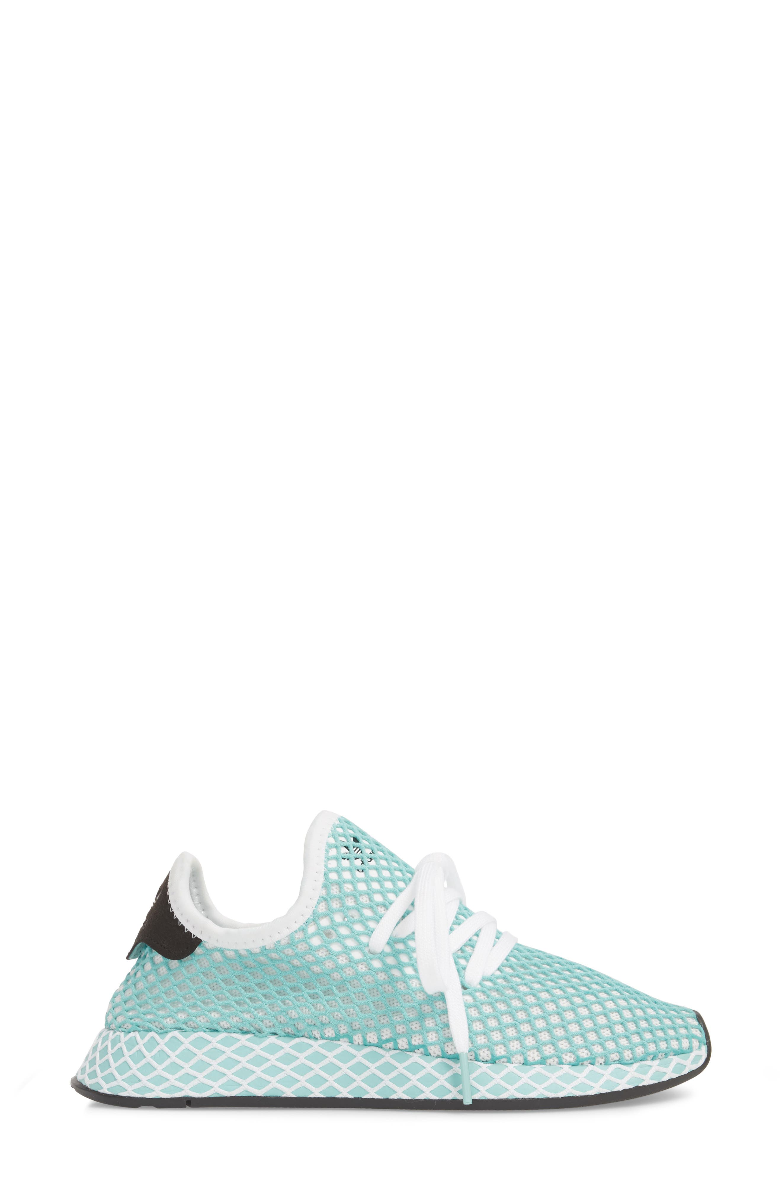 Deerupt x Parley Runner Sneaker,                             Alternate thumbnail 3, color,                             White/ White/ Blue Spirit
