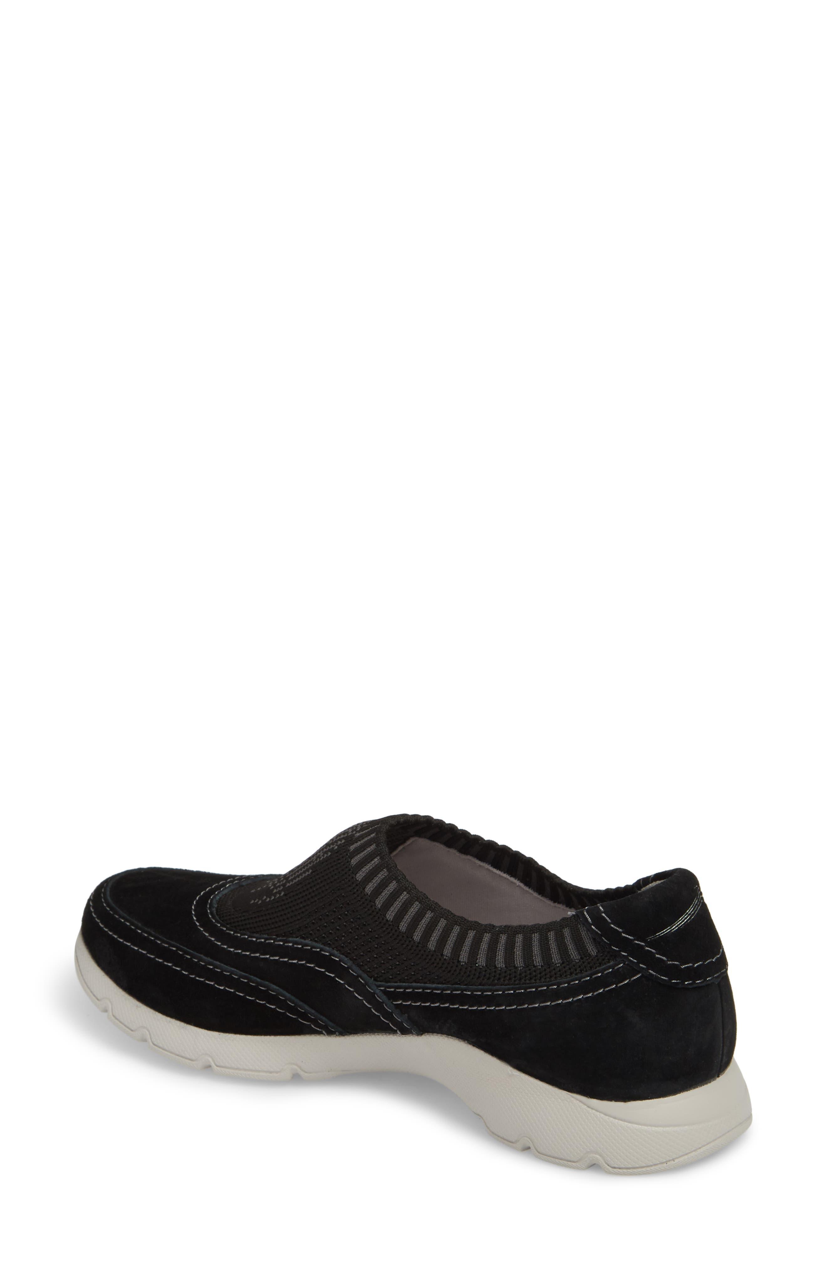 Alice Slip-On Sneaker,                             Alternate thumbnail 2, color,                             Black Suede