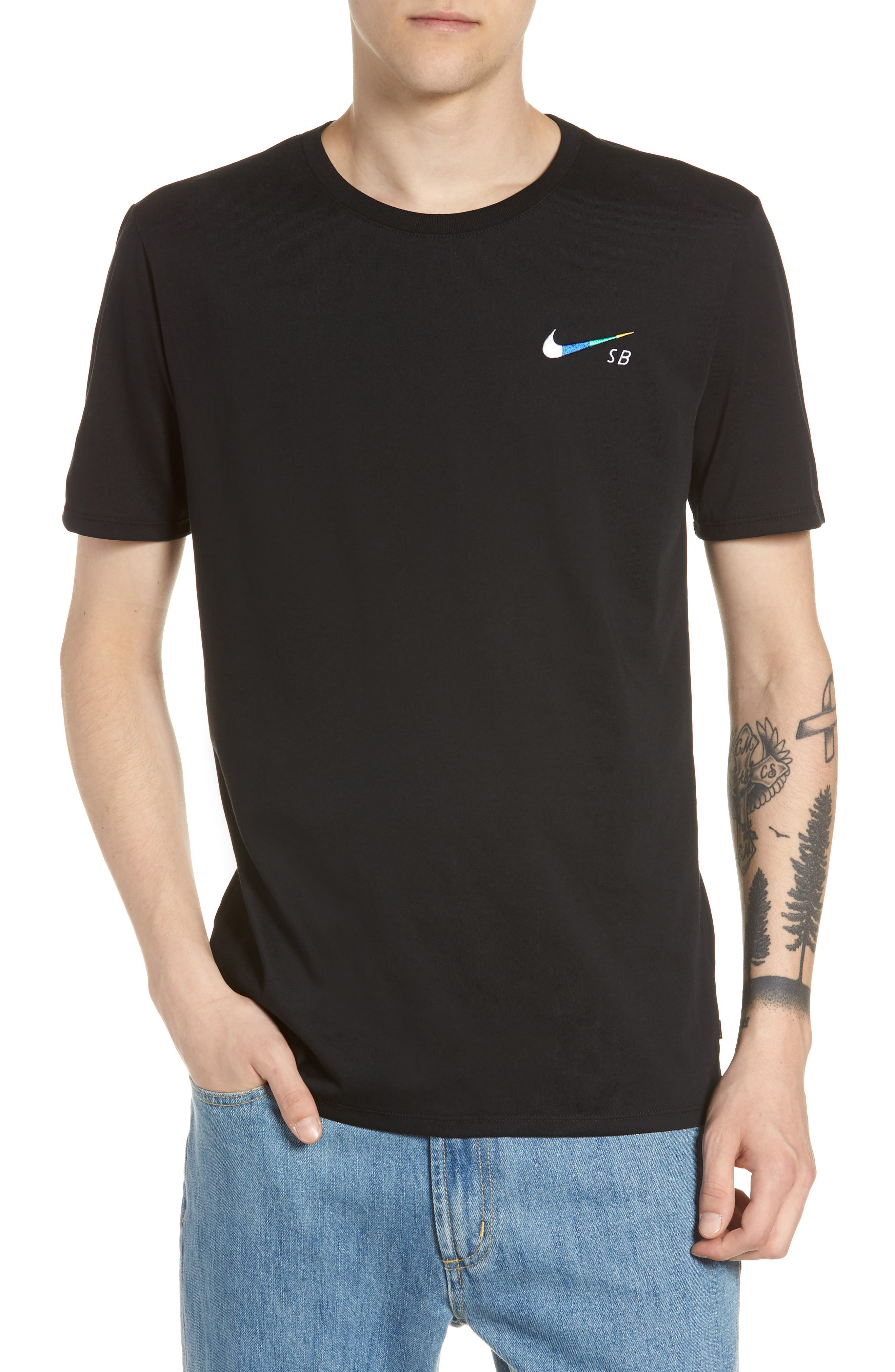SB Dry DFC Global Graphic T-Shirt,                             Main thumbnail 1, color,                             Black/ White