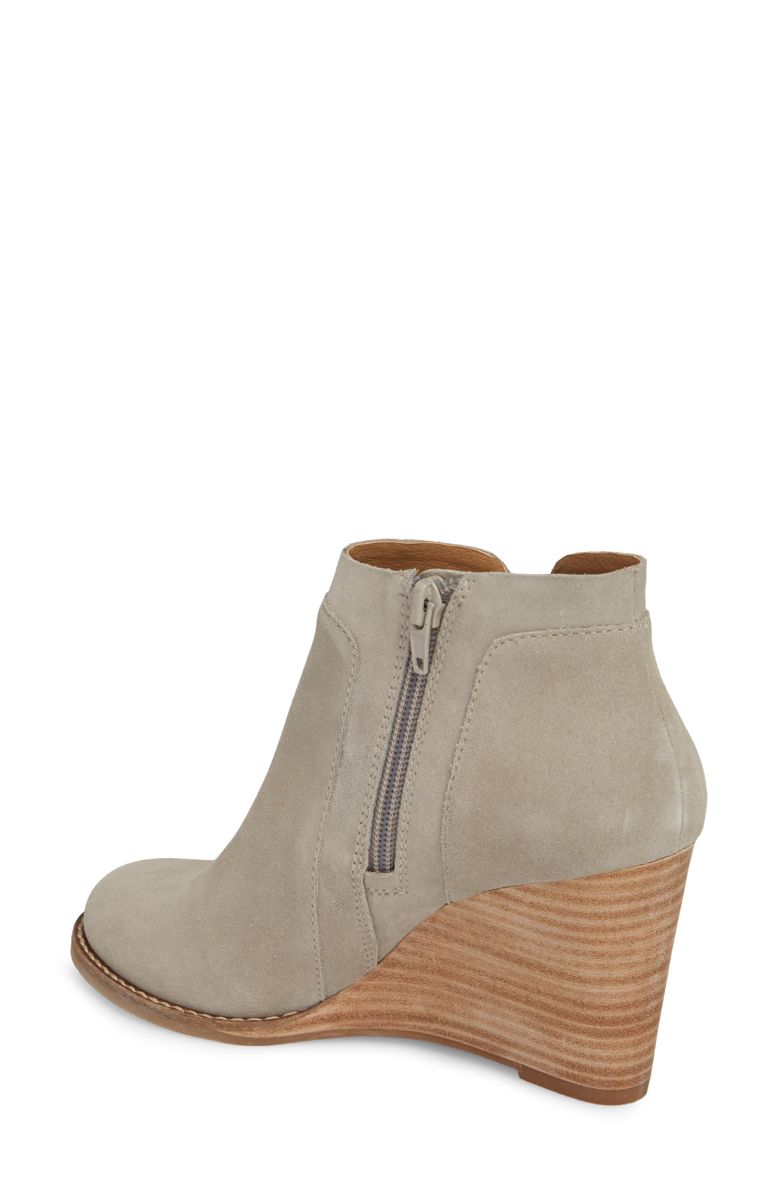 Yabba Wedge Bootie,                             Alternate thumbnail 2, color,                             Grey Suede